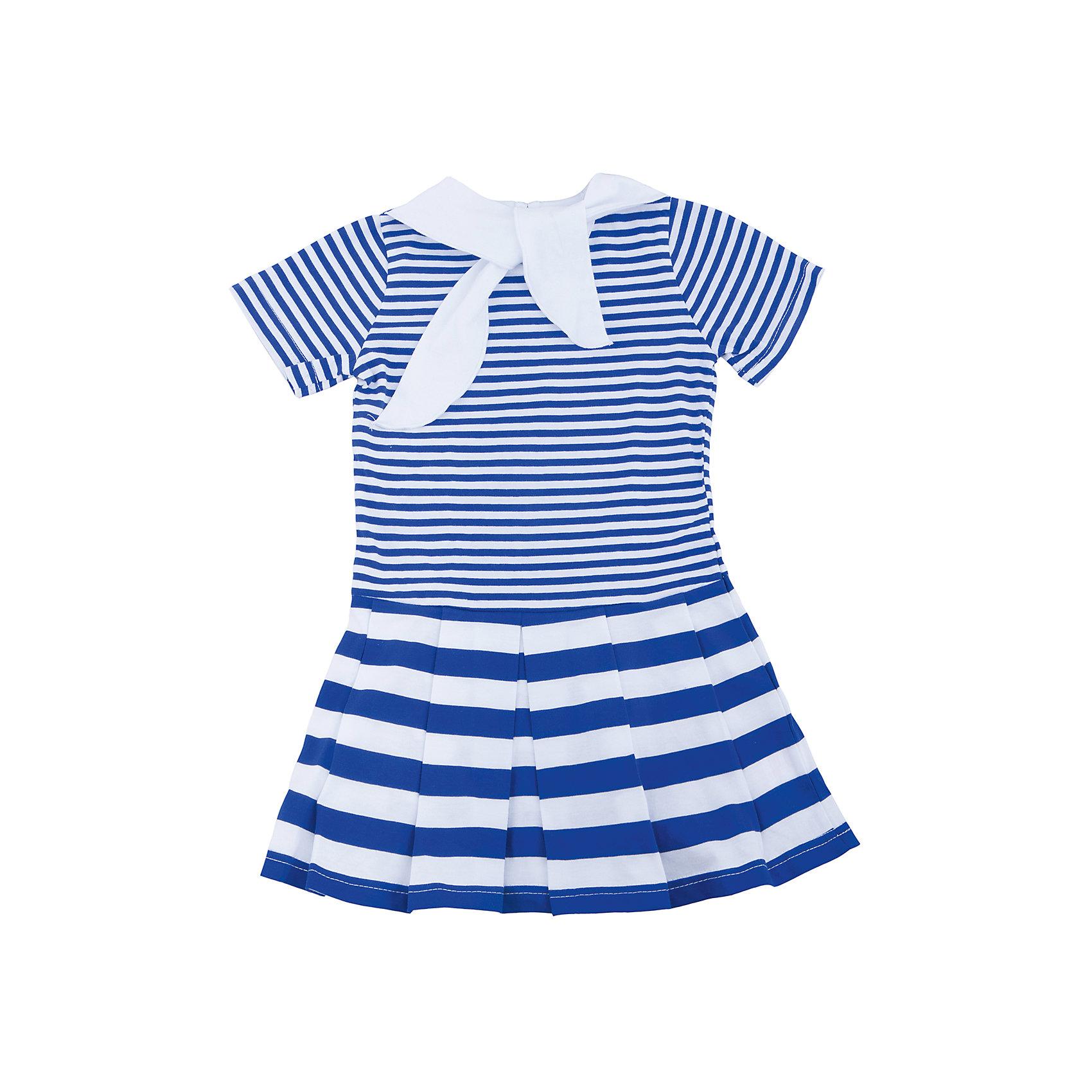 Платье для девочки АпрельПлатья<br>Характеристики товара:<br><br>• цвет: синий<br>• состав: 100% хлопок<br>• короткие рукава<br>• декоративный воротник<br>• морской стиль<br>• складки на подоле<br>• застежка: пуговица<br>• комфортная посадка<br>• страна производитель: Российская Федерация<br>• страна бренда: Российская Федерация<br><br>Это симпатичное платье - удобная и универсальная вещь, которая поможет разнообразить гардероб ребенка. Она комфортно ощущается на теле, хорошо садится по детской фигуре. Изделие отлично сочетается с различной обувью. Материал состоит из хлопка, который не вызывает аллергии и позволяет коже дышать.<br><br>Платье для девочки от известного бренда Апрель можно купить в нашем интернет-магазине.<br><br>Ширина мм: 236<br>Глубина мм: 16<br>Высота мм: 184<br>Вес г: 177<br>Цвет: синий<br>Возраст от месяцев: 24<br>Возраст до месяцев: 36<br>Пол: Женский<br>Возраст: Детский<br>Размер: 98,92<br>SKU: 5438509