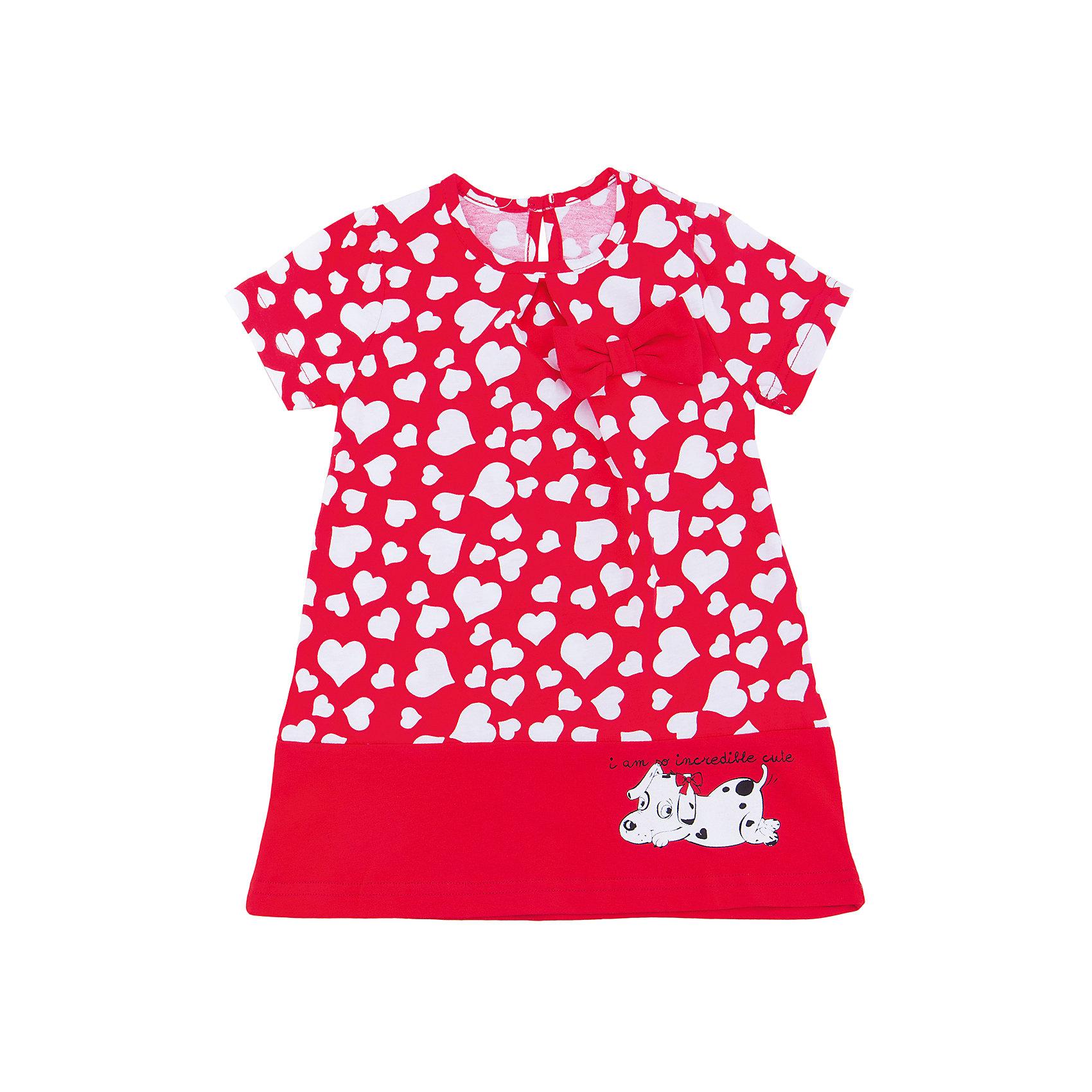 Платье для девочки АпрельПлатья и сарафаны<br>Характеристики товара:<br><br>• цвет: красный<br>• состав: 100% хлопок<br>• свободный силуэт<br>• короткие рукава<br>• декорировано принтом<br>• бант<br>• комфортная посадка<br>• страна производитель: Российская Федерация<br>• страна бренда: Российская Федерация<br><br>Это симпатичное платье - удобная и универсальная вещь, которая поможет разнообразить гардероб ребенка. Она комфортно ощущается на теле, хорошо садится по детской фигуре. Изделие отлично сочетается с различной обувью. Материал состоит из хлопка, который не вызывает аллергии и позволяет коже дышать<br><br>Платье для девочки от известного бренда Апрель можно купить в нашем интернет-магазине.<br><br>Ширина мм: 236<br>Глубина мм: 16<br>Высота мм: 184<br>Вес г: 177<br>Цвет: красный<br>Возраст от месяцев: 60<br>Возраст до месяцев: 72<br>Пол: Женский<br>Возраст: Детский<br>Размер: 116,86,92,98,104,110<br>SKU: 5438687