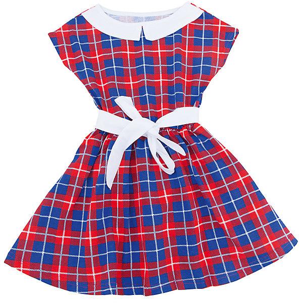 Платье для девочки АпрельПлатья и сарафаны<br>Характеристики товара:<br><br>• цвет: красный/синий<br>• состав: 100% хлопок<br>• приталенный силуэт<br>• короткие рукава<br>• лента на талии<br>• принт<br>• комфортная посадка<br>• страна производитель: Российская Федерация<br>• страна бренда: Российская Федерация<br><br>Это симпатичное платье - удобная и универсальная вещь, которая поможет разнообразить гардероб ребенка. Она комфортно ощущается на теле, хорошо садится по детской фигуре. Изделие отлично сочетается с различной обувью. Материал состоит из хлопка, который не вызывает аллергии и позволяет коже дышать.<br><br>Платье для девочки от известного бренда Апрель можно купить в нашем интернет-магазине.<br><br>Ширина мм: 236<br>Глубина мм: 16<br>Высота мм: 184<br>Вес г: 177<br>Цвет: белый<br>Возраст от месяцев: 48<br>Возраст до месяцев: 60<br>Пол: Женский<br>Возраст: Детский<br>Размер: 110,134,128,122,116<br>SKU: 5439150