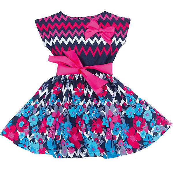 Платье для девочки АпрельПлатья и сарафаны<br>Характеристики товара:<br><br>• цвет: синий<br>• состав: 100% хлопок<br>• приталенный силуэт<br>• короткие рукава<br>• бант-брошка<br>• принт<br>• комфортная посадка<br>• страна производитель: Российская Федерация<br>• страна бренда: Российская Федерация<br><br>Это симпатичное платье - удобная и универсальная вещь, которая поможет разнообразить гардероб ребенка. Она комфортно ощущается на теле, хорошо садится по детской фигуре. Изделие отлично сочетается с различной обувью. Материал состоит из хлопка, который не вызывает аллергии и позволяет коже дышать.<br><br>Платье для девочки от известного бренда Апрель можно купить в нашем интернет-магазине.<br><br>Ширина мм: 236<br>Глубина мм: 16<br>Высота мм: 184<br>Вес г: 177<br>Цвет: синий<br>Возраст от месяцев: 24<br>Возраст до месяцев: 36<br>Пол: Женский<br>Возраст: Детский<br>Размер: 98,140,134,128,122,116,110,104<br>SKU: 5439497