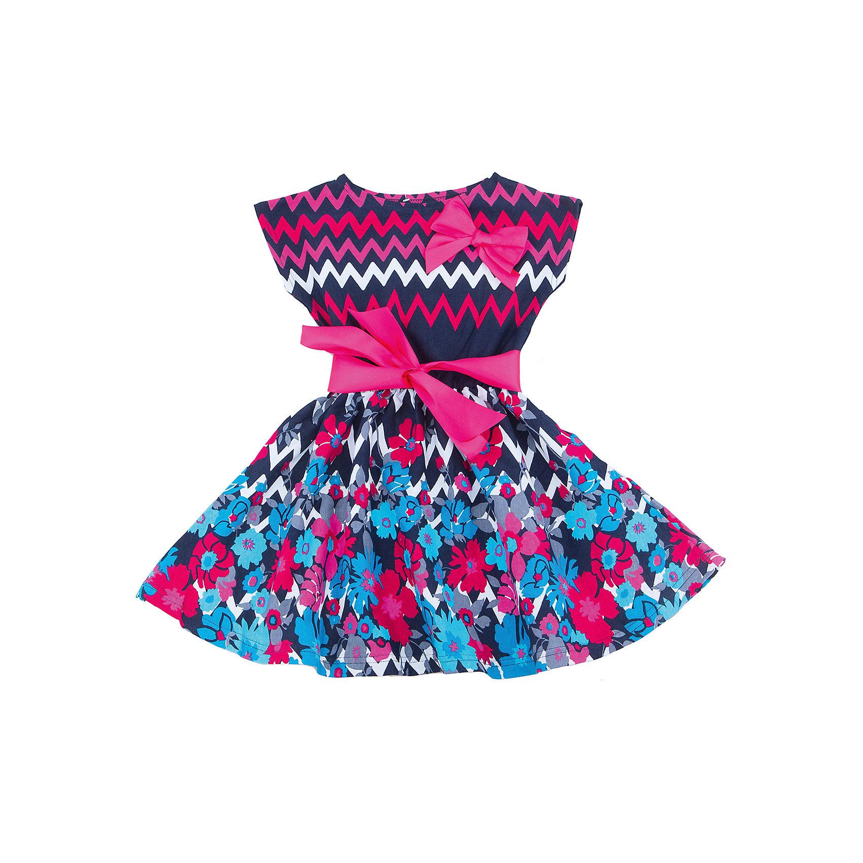 Платье для девочки АпрельПлатья и сарафаны<br>Характеристики товара:<br><br>• цвет: синий<br>• состав: 100% хлопок<br>• приталенный силуэт<br>• короткие рукава<br>• бант-брошка<br>• принт<br>• комфортная посадка<br>• страна производитель: Российская Федерация<br>• страна бренда: Российская Федерация<br><br>Это симпатичное платье - удобная и универсальная вещь, которая поможет разнообразить гардероб ребенка. Она комфортно ощущается на теле, хорошо садится по детской фигуре. Изделие отлично сочетается с различной обувью. Материал состоит из хлопка, который не вызывает аллергии и позволяет коже дышать.<br><br>Платье для девочки от известного бренда Апрель можно купить в нашем интернет-магазине.<br><br>Ширина мм: 236<br>Глубина мм: 16<br>Высота мм: 184<br>Вес г: 177<br>Цвет: синий<br>Возраст от месяцев: 108<br>Возраст до месяцев: 120<br>Пол: Женский<br>Возраст: Детский<br>Размер: 140,134,98,104,110,116,122,128<br>SKU: 5439497