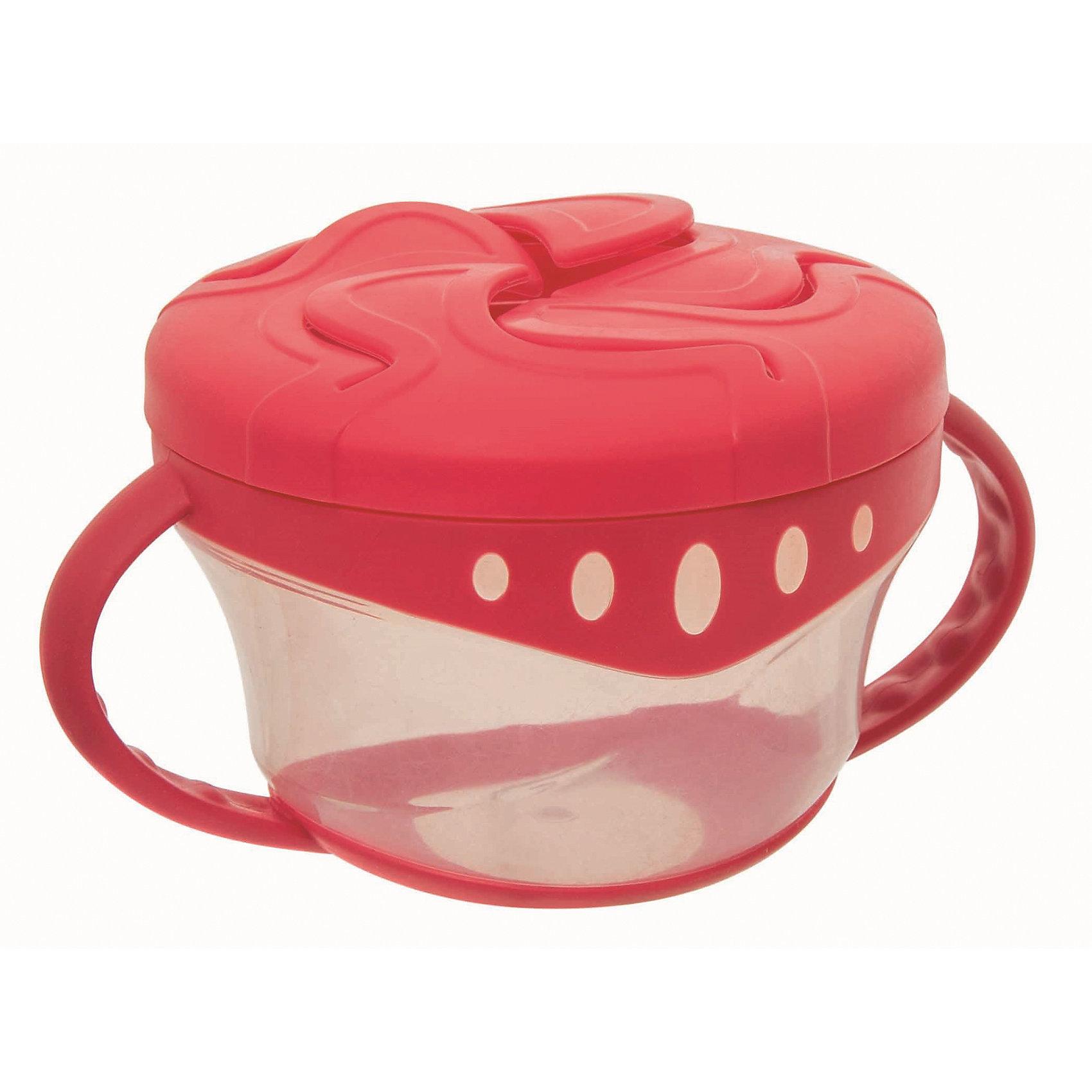 Чашка для сухих завтраков, Мир Детства, красныйПосуда для малышей<br>Чашка для сухих завтраков, Мир Детства, красный.<br><br>Характеристики:<br><br>• Возраст: от 4 месяцев<br>• Диаметр: 7-8 см.<br>• Высота: 6 см.<br>• Цвет: красный<br>• Материал: полипропилен, термопластэластомер<br>• Не содержит Бисфенол-А<br>• Запрещено стерилизовать и разогревать в СВЧ-печи<br>• Разрешено мыть в посудомоечной машине только в верхнем отделении<br><br>Чашка для сухих завтраков разработана специально для хранения детских закусок: печенья, сушек, сухариков. Пластичные лепестки крышки удерживают содержимое чашки таким образом, чтобы малыш мог легко до него добраться, ничего не просыпав. Прозрачные стенки чашки позволяют контролировать объем оставшейся пищи. Легкая компактная чашка особенно удобна в путешествиях. Подходит для ежедневного использования. Незаменима как дома, так и на прогулках.<br><br>Чашку для сухих завтраков, Мир Детства, красную можно купить в нашем интернет-магазине.<br><br>Ширина мм: 70<br>Глубина мм: 100<br>Высота мм: 190<br>Вес г: 80<br>Возраст от месяцев: 4<br>Возраст до месяцев: 24<br>Пол: Унисекс<br>Возраст: Детский<br>SKU: 5439963