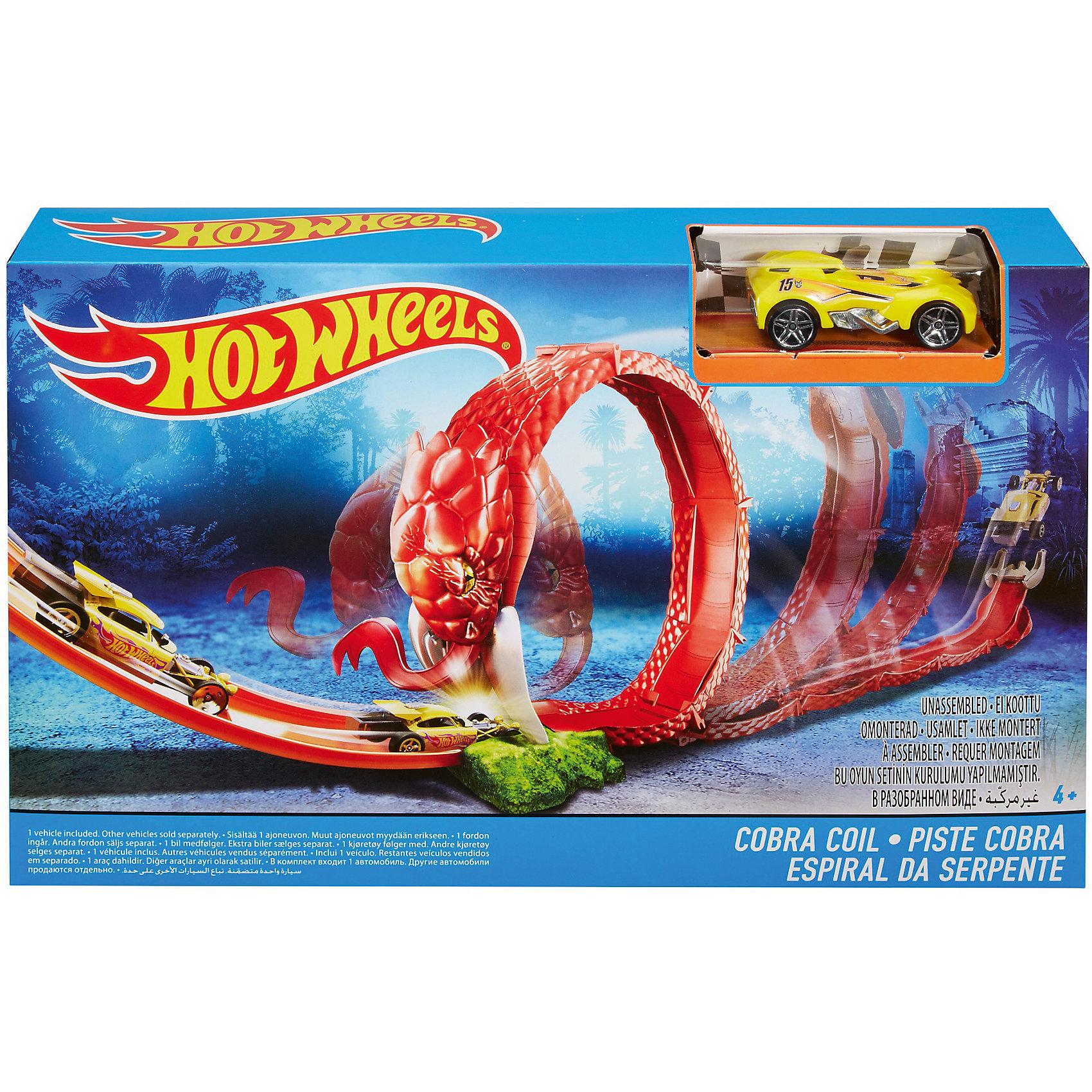 Игровой набор Cobra Coil, Hot WheelsИгровые наборы<br><br><br>Ширина мм: 305<br>Глубина мм: 55<br>Высота мм: 190<br>Вес г: 429<br>Возраст от месяцев: 48<br>Возраст до месяцев: 120<br>Пол: Мужской<br>Возраст: Детский<br>SKU: 5440256