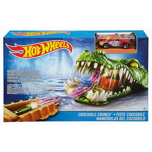 Игровой набор Crocodile Crunch, Hot WheelsМашинки<br><br>Ширина мм: 305; Глубина мм: 55; Высота мм: 190; Вес г: 429; Возраст от месяцев: 48; Возраст до месяцев: 120; Пол: Мужской; Возраст: Детский; SKU: 5440257;