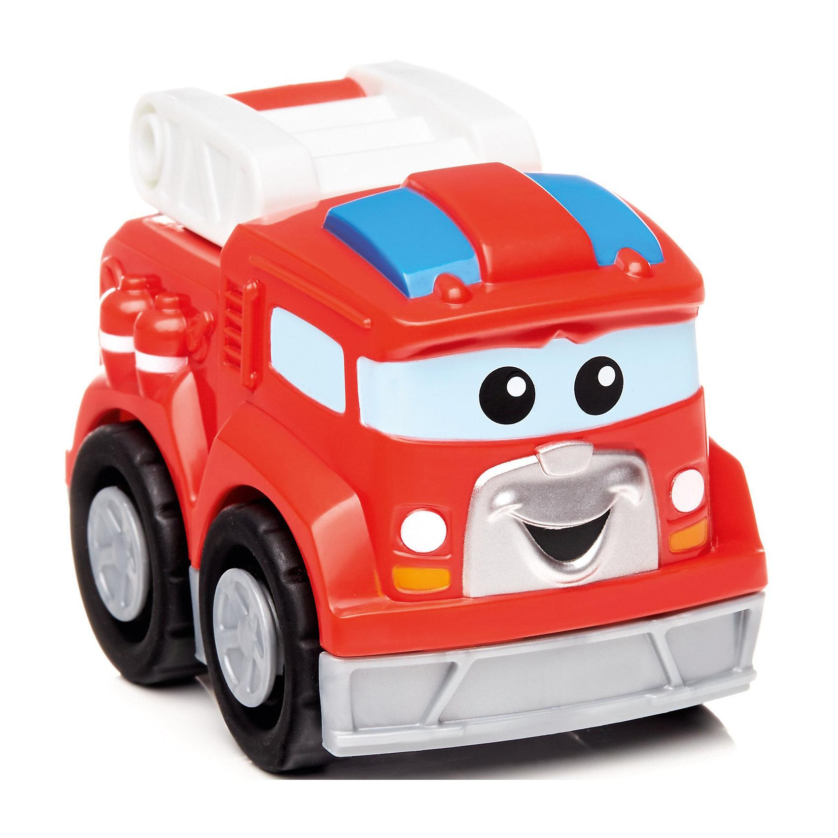 Пожарная машинка Фрэдди, MEGA BLOKSМашинки и транспорт для малышей<br>Пожарная машинка Фрэдди, MEGA BLOKS (МЕГА БЛОКС).<br><br>Характеристики:<br><br>• Количество элементов: 3<br>• Материал: высококачественный пластик<br>• Цвет: красный, белый, голубой<br>• Размер упаковки: 8,5х6х6 см.<br><br>Ярко-красная пожарная машина Фредди MEGA BLOKS (МЕГА БЛОКС) создана для храбрых пожарников, готовых прийти на помощь в любую минуту. Пожарная машина собирается из трех больших частей, которые отлично соединяются между собой. Элементы конструктора крупные, их удобно брать и держать маленькими детскими ручками. Широкие колеса обеспечивают беспрепятственную езду по любой поверхности. <br><br>В верхней части пожарного автомобиля предусмотрена лестница, которую можно поднимать и опускать. Пожарная машина выглядит очень мило и очаровательно благодаря большим глазкам и задорной улыбке. Игрушка изготовлена из качественного пластика и абсолютно безопасна для здоровья малыша. Позвольте малышу почувствовать себя настоящим пожарником!<br><br>Пожарную машинку Фрэдди, MEGA BLOKS (МЕГА БЛОКС) можно купить в нашем интернет-магазине.<br><br>Ширина мм: 90<br>Глубина мм: 60<br>Высота мм: 60<br>Вес г: 76<br>Возраст от месяцев: 12<br>Возраст до месяцев: 60<br>Пол: Мужской<br>Возраст: Детский<br>SKU: 5440281