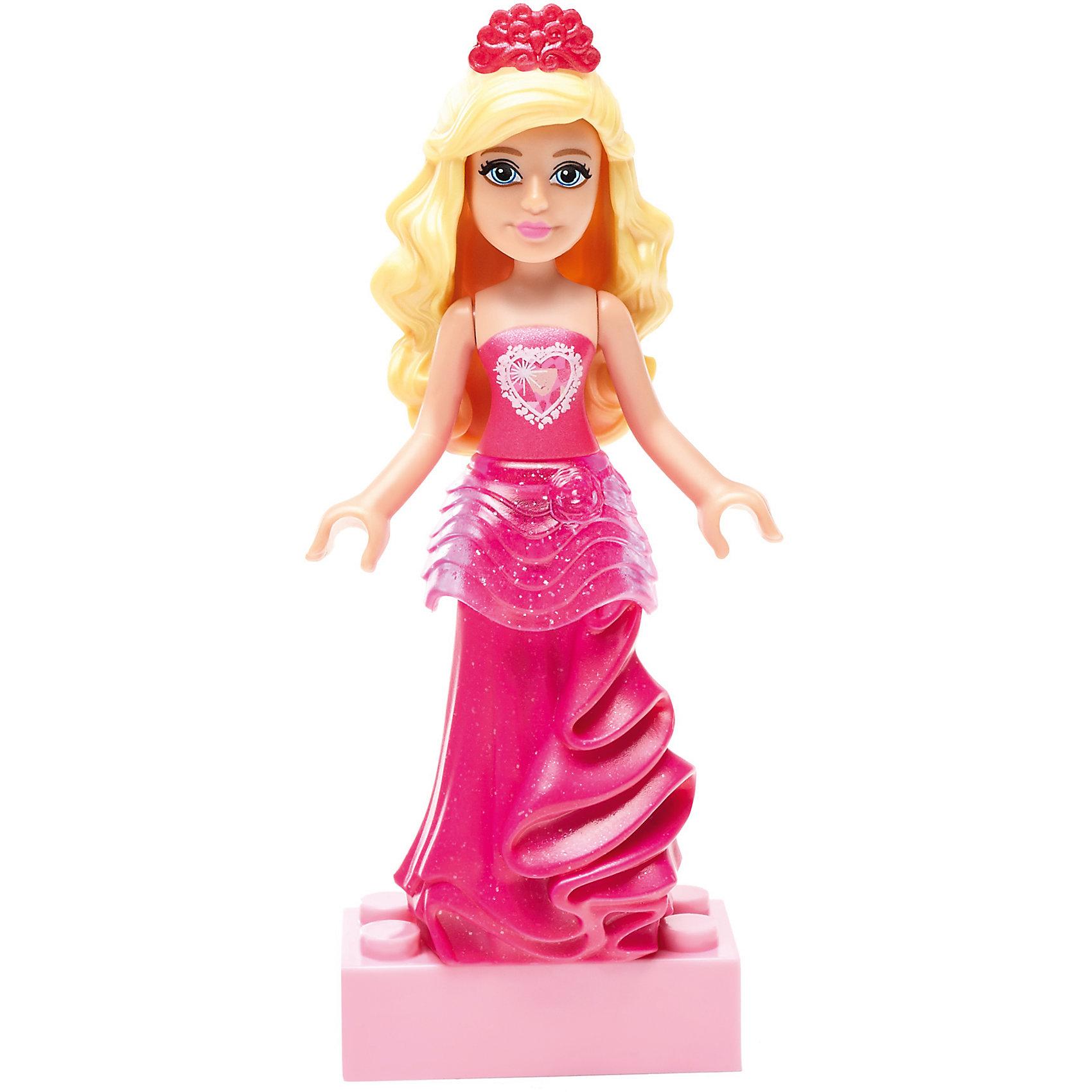 Барби: мини фигурка Gem Princess, MEGA BLOKSПластмассовые конструкторы<br>Барби: мини фигурка Gem Princess, MEGA BLOKS (МЕГА БЛОКС).<br><br>Характеристики:<br><br>• Комплектация: фигурка, подставка<br>• Количество деталей: 6<br>• Высота фигурки: 7 см.<br>• Материал: пластик<br>• Упаковка: блистер<br>• Размер упаковки: 14x9x4 см.<br><br>Вы когда-нибудь мечтали о том, чтобы совместить самую известную в мире куклу – Барби с конструктором? Mega Bloks представляет очаровательную мини фигурку Gem Princess Barbie, которую можно собрать из 6 деталей. У куклы - симпатичный наряд, красивая прическа, милое личико и специальные ручки, позволяющие удерживать аксессуары. <br><br>Маленькая принцесса может не только стоять, но и сидеть. Ручки подвижны. В комплект с мини-фигуркой входит подставка. Соединяйте набор с другими конструкторами Barbie Mega Bloks, меняйте прически и наряды и создавайте свой волшебный и красочный мир Барби!<br><br>Барби: мини фигурку Gem Princess, MEGA BLOKS (МЕГА БЛОКС) можно купить в нашем интернет-магазине.<br><br>Ширина мм: 90<br>Глубина мм: 25<br>Высота мм: 125<br>Вес г: 14<br>Возраст от месяцев: 48<br>Возраст до месяцев: 120<br>Пол: Женский<br>Возраст: Детский<br>SKU: 5440288