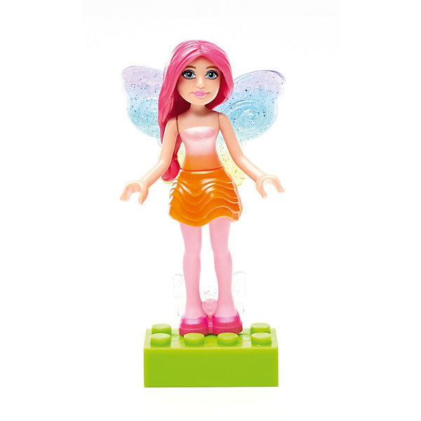 Барби: мини фигурка Rainbow Fairy, MEGA BLOKSПластмассовые конструкторы<br>Барби: мини фигурка Rainbow Fairy, MEGA BLOKS (МЕГА БЛОКС).<br><br>Характеристики:<br><br>• Комплектация: фигурка, подставка<br>• Количество деталей: 6<br>• Высота фигурки: 7 см.<br>• Материал: пластик<br>• Упаковка: блистер<br>• Размер упаковки: 14x9x4 см.<br><br>Вы когда-нибудь мечтали о том, чтобы совместить самую известную в мире куклу – Барби с конструктором? Mega Bloks представляет очаровательную мини фигурку Rainbow Splash Fairy Barbie из Радужной бухты, которую можно собрать из 6 деталей. У куклы - симпатичный наряд, красивая прическа, милое личико, изящные крылышки и специальные ручки, позволяющие удерживать аксессуары. <br><br>Маленькая кукла может не только стоять, но и сидеть. Ручки подвижны. В комплект с мини-фигуркой входит подставка. Соединяйте набор с другими конструкторами Barbie Mega Bloks, меняйте прически и наряды и создавайте свой волшебный и красочный мир Барби!<br><br>Барби: мини фигурку Rainbow Fairy, MEGA BLOKS (МЕГА БЛОКС) можно купить в нашем интернет-магазине.<br><br>Ширина мм: 90<br>Глубина мм: 25<br>Высота мм: 125<br>Вес г: 14<br>Возраст от месяцев: 48<br>Возраст до месяцев: 120<br>Пол: Женский<br>Возраст: Детский<br>SKU: 5440290