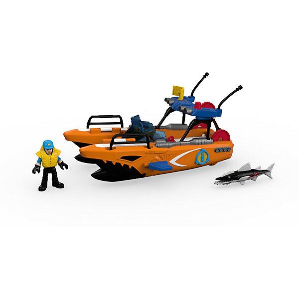 Спасательная турбо-лодка, Imaginext, Fisher PriceКорабли и лодки<br>Спасательная турбо-лодка, Imaginext, Fisher Price (Фишер Прайс).<br><br>Характеристики:<br><br>• Комплектация: лодка, фигурка спасателя, бейсболка, спасательный жилет, 3 диска, 2 торпеды, барракуда<br>• Материал: пластик<br>• Размер лодки: 28х14х15 см.<br>• Упаковка: картонная коробка открытого типа<br>• Размер упаковки: 32x16х22 см.<br><br>Спасательная турбо-лодка, Imaginext, Fisher Price – это игровой набор, который позволит ребенку придумать и реализовать множество увлекательных сюжетов, например: проводить спасательные операции или остановить большую и страшную барракуду. <br><br>Спасательная турбо-лодка выполнена с высокой долей детализации элементов, максимально схожа с катером береговой охраны. Лодка оснащена выдвигающимися торпедными аппаратами, может стрелять торпедами и дисками. Для того, чтобы торпедные аппараты выдвинулись из корпуса турбо-лодки, достаточно повернуть фигурку спасателя, стоящего на палубе в специальных упорах, вправо и влево. <br><br>Для выстрела необходимо нажать на красную кнопку, расположенную на корпусе торпедного аппарата. Диски выстреливаются с кормы лодки с помощью катапульты. Голова, руки и ноги фигурки спасателя, а также челюсти и плавник барракуды подвижны. Набор выполнен из качественного и безопасного пластика, устойчивого к механическим повреждениям. Все элементы окрашены нетоксичными красками.<br><br>Набор Спасательная турбо-лодка, Imaginext, Fisher Price (Фишер Прайс) можно купить в нашем интернет-магазине.<br>Ширина мм: 320; Глубина мм: 150; Высота мм: 215; Вес г: 995; Возраст от месяцев: 36; Возраст до месяцев: 96; Пол: Мужской; Возраст: Детский; SKU: 5440292;