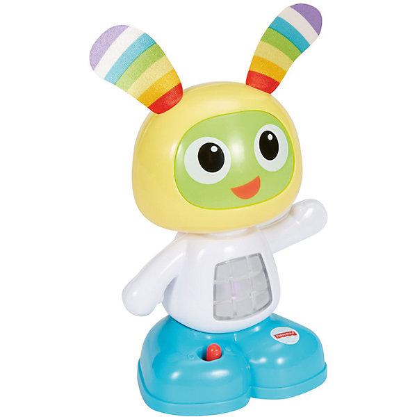 Мини-игрушка Бибо, Fisher PriceИнтерактивные игрушки для малышей<br>Мини-игрушка Бибо, Fisher Price (Фишер Прайс).<br><br>Характеристики:<br><br>• Высота: 15 см.<br>• Материал: пластик, металл<br>• Батарейки: 2хААА / LR0.3 1,5V (в комплект не входят)<br><br>Обучающая мини-игрушка Бибо от торговой марки Fisher-Price (Фишер Прайс), выполненная в виде забавного зайчика с веселой мордашкой и длинными ушками, привлечет внимание вашего малыша. Внутри игрушки есть звуковой и световой модули, активировать которые можно нажав на покачивающуюся голову. Бибо обучит вашего малыша новым фразам, мелодиям и веселым песенкам, под которые можно танцевать. <br><br>Игрушка поможет ребенку в развитии координации движений, моторных навыков, музыкального и слухового восприятия. С Бибо ваш малыш не заскучает и сможет придумать множество веселых игр и занятий. Игрушка изготовлена из качественного пластика, благодаря чему ей не страшны удары и падения.<br><br>Мини-игрушку Бибо, Fisher Price (Фишер Прайс) можно купить в нашем интернет-магазине.<br><br>Ширина мм: 105<br>Глубина мм: 70<br>Высота мм: 160<br>Вес г: 273<br>Возраст от месяцев: 72<br>Возраст до месяцев: 432<br>Пол: Унисекс<br>Возраст: Детский<br>SKU: 5440294