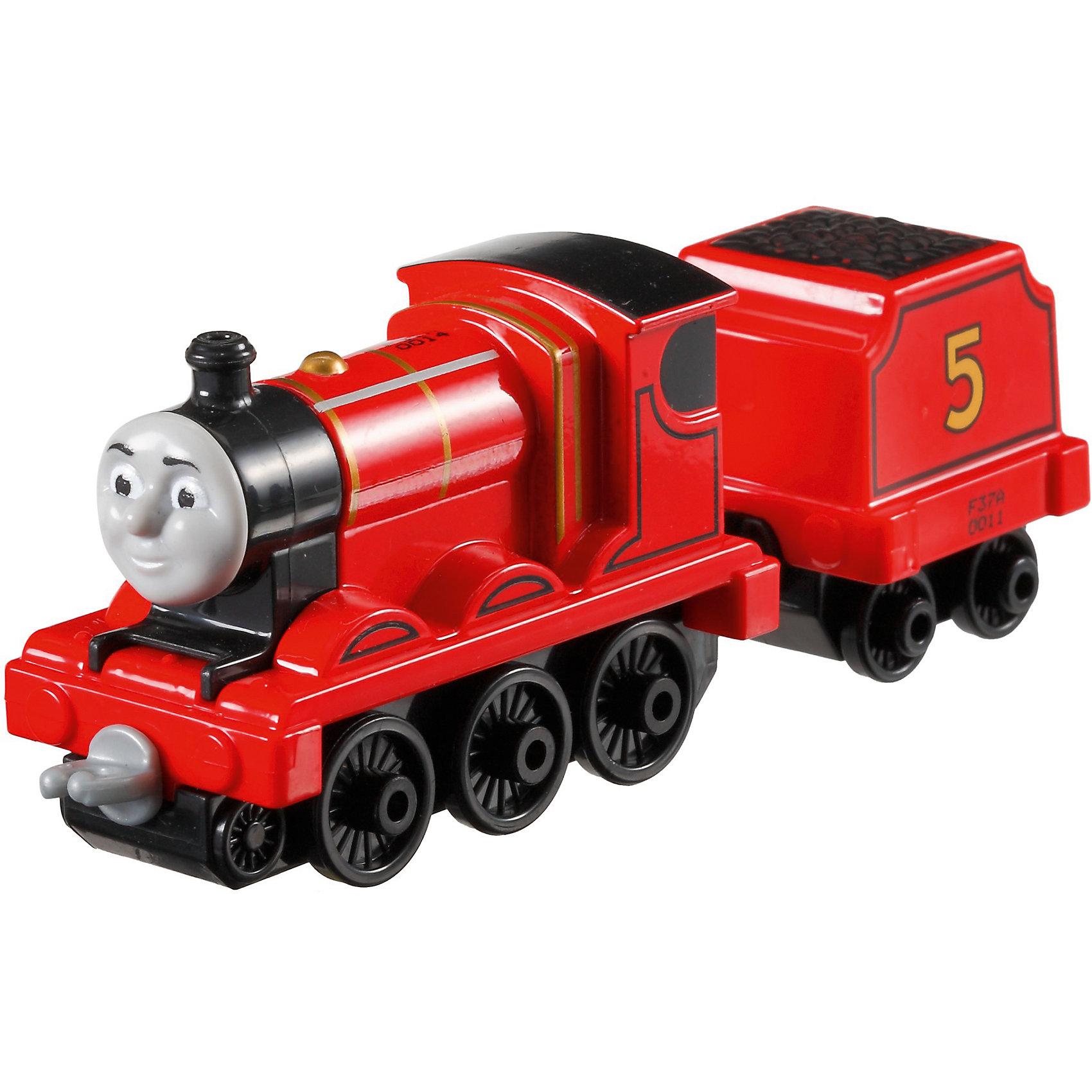 Большой паровозик, Томас и его друзьяБольшой паровозик, Томас и его друзья.<br><br>Характеристики:<br><br>• Материал: пластик, металл<br>• Размер упаковки: 19х11,5х3 см.<br>• Вес: 380 гр.<br><br>Большой паровозик Джеймс создан по мотивам мультфильма Томас и его друзья, невероятно популярного среди миллионов детей во всем мире. Паровозик отличается высокой степенью детализации и соответствия своему экранному прототипу. При движении позади транспортного средства забавно покачивается вагон-прицеп с грузом. Надежные пластиковые соединения позволяют присоединять к паровозику вагончики, тендеры и другие паровозики из серии «Томас и друзья». <br><br>Игрушка станет отличным подарком для поклонников мультсериала «Томас и друзья», а также для любителей железных дорог! Паровозик изготовлен из высококачественных материалов, используемые красители не содержат токсичных компонентов и полностью безопасны для здоровья ребенка.<br><br>Большой паровозик, Томас и его друзья можно купить в нашем интернет-магазине.<br><br>Ширина мм: 190<br>Глубина мм: 35<br>Высота мм: 115<br>Вес г: 54<br>Возраст от месяцев: 36<br>Возраст до месяцев: 120<br>Пол: Мужской<br>Возраст: Детский<br>SKU: 5440300
