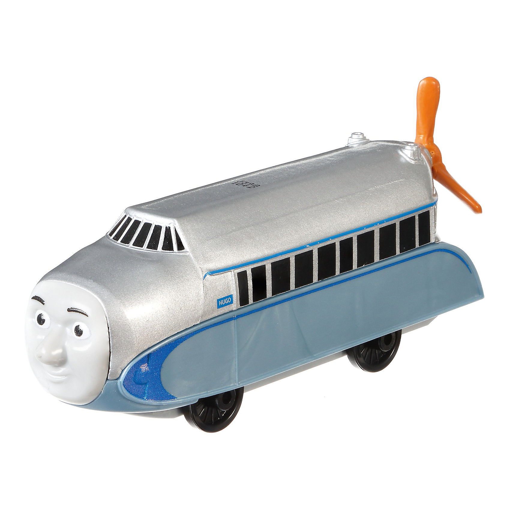 Большой паровозик, Томас и его друзьяПопулярные игрушки<br>Большой паровозик, Томас и его друзья.<br><br>Характеристики:<br><br>• Материал: пластик, металл<br>• Размер упаковки: 19х11,5х3 см.<br>• Вес: 380 гр.<br><br>Большой паровозик Хьюго с вертящимся пропеллером создан по мотивам мультфильма Томас и его друзья, невероятно популярного среди миллионов детей во всем мире. Игрушка отличается высокой степенью детализации и соответствия своему экранному прототипу. Она станет отличным подарком для поклонников мультсериала «Томас и друзья», а также для любителей железных дорог! Изготовлен из высококачественных материалов, используемые красители не содержат токсичных компонентов и полностью безопасны для здоровья ребенка.<br><br>Большой паровозик, Томас и его друзья можно купить в нашем интернет-магазине.<br><br>Ширина мм: 190<br>Глубина мм: 35<br>Высота мм: 115<br>Вес г: 54<br>Возраст от месяцев: 36<br>Возраст до месяцев: 120<br>Пол: Мужской<br>Возраст: Детский<br>SKU: 5440304