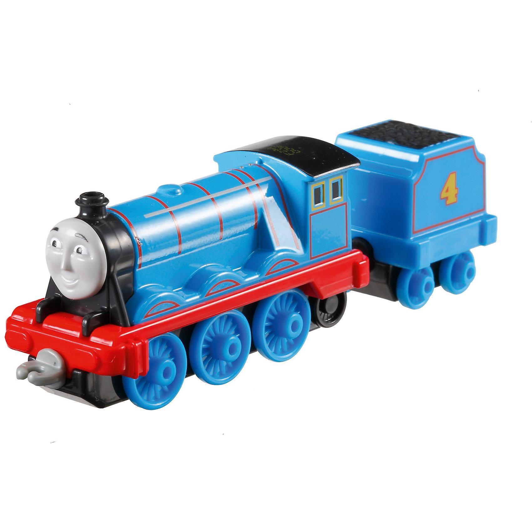 Большой паровозик, Томас и его друзьяПопулярные игрушки<br>Большой паровозик, Томас и его друзья.<br><br>Характеристики:<br><br>• Материал: пластик, металл<br>• Размер упаковки: 19х11,5х3 см.<br>• Вес: 380 гр.<br><br>Большой паровозик Гордон создан по мотивам мультфильма Томас и его друзья, невероятно популярного среди миллионов детей во всем мире. Паровозик отличается высокой степенью детализации и соответствия своему экранному прототипу. При движении позади транспортного средства забавно покачивается вагон-прицеп с грузом. <br><br>Надежные пластиковые соединения позволяют присоединять к паровозику вагончики, тендеры и другие паровозики из серии «Томас и друзья». Игрушка станет отличным подарком для поклонников мультсериала «Томас и друзья», а также для любителей железных дорог! Паровозик изготовлен из высококачественных материалов, используемые красители не содержат токсичных компонентов и полностью безопасны для здоровья ребенка.<br><br>Большой паровозик, Томас и его друзья можно купить в нашем интернет-магазине.<br><br>Ширина мм: 190<br>Глубина мм: 35<br>Высота мм: 115<br>Вес г: 54<br>Возраст от месяцев: 36<br>Возраст до месяцев: 120<br>Пол: Мужской<br>Возраст: Детский<br>SKU: 5440306