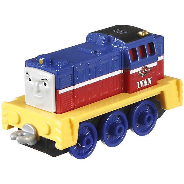 Маленький паровозик, Томас и его друзьяЖелезные дороги<br>Маленький паровозик, Томас и его друзья.<br><br>Характеристики:<br><br>• Материал: пластик, металл<br>• Размер упаковки: 13х11,5х3 см.<br>• Вес: 280 гр.<br><br>Маленький тепловоз Иван создан по мотивам мультфильма Томас и его друзья, невероятно популярного среди миллионов детей во всем мире. Игрушка отличается высокой степенью детализации и соответствия своему экранному прототипу. Надежные пластиковые соединения позволяют присоединять к тепловозу вагончики, тендеры и другие паровозики из серии «Томас и друзья». <br><br>Маленький тепловоз Иван станет отличным подарком для поклонников мультсериала «Томас и друзья», а также для любителей железных дорог! Игрушка изготовлена из высококачественных материалов, используемые красители не содержат токсичных компонентов и полностью безопасны для здоровья ребенка.<br><br>Маленький паровозик, Томас и его друзья можно купить в нашем интернет-магазине.<br>Ширина мм: 130; Глубина мм: 35; Высота мм: 115; Вес г: 64; Возраст от месяцев: 36; Возраст до месяцев: 120; Пол: Мужской; Возраст: Детский; SKU: 5440319;