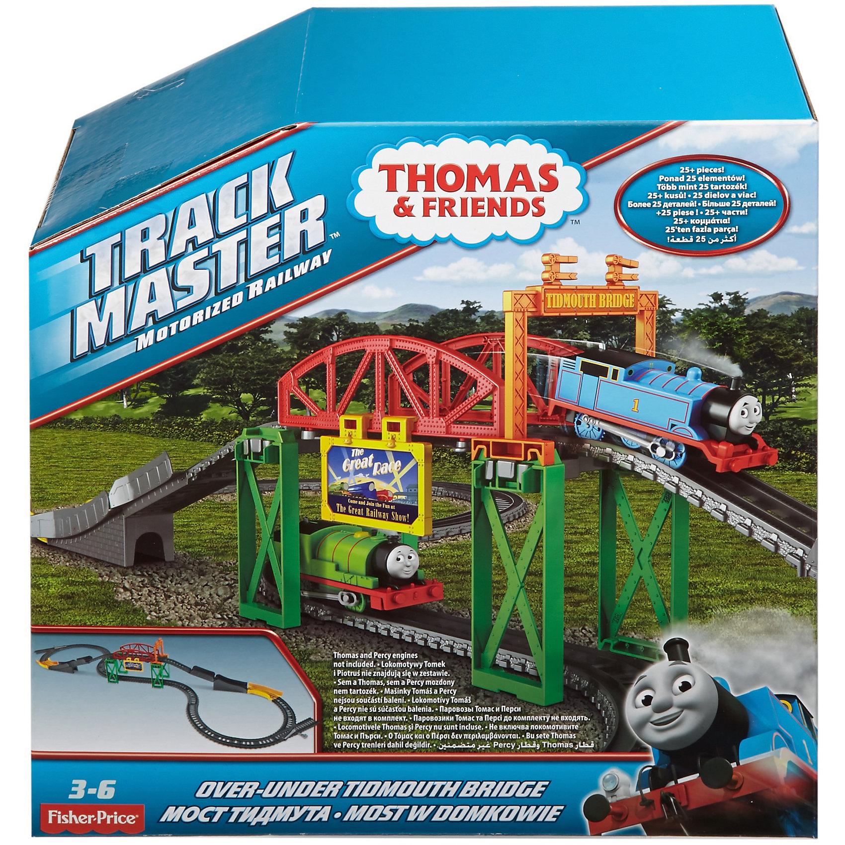 Игровой набор Гонка по болоту, Томас и его друзьяИгровой набор Гонка по болоту, Томас и его друзья.<br><br>Характеристики:<br><br>• В наборе: детали для сборки железной дороги, отбойники, детали для сборки моста, знак Большая гонка<br>• Количество деталей: 25<br>• Материал: пластик<br>• Размер упаковки: 25х13х25 см.<br>• Вес: 820 гр.<br><br>Игровой набор Гонка по болоту, созданный по мотивам мультфильма «Томас и его друзья», подарит ребенку массу удовольствия. С ним можно придумывать новые увлекательные приключения для героев мультфильма, развивая воображение и фантазию. Трасса включает 2 уровня - паровозик (приобретается отдельно) может проехать как по мосту, так и под ним. <br><br>Путь, по которому будет двигаться паровозик, очень извилистый. Особо опасные повороты защищены специальными ограждениями, чтобы паровозик не сошел с рельс. Мост украшен красочным знаком Большая гонка. Железная дорога собирается легко и просто, так что с этим заданием сможет справиться и ребенок. Все элементы набора выполнены из высококачественного пластика и покрыты нетоксичными красками. Набор совместим с другими наборами Track Master.<br><br>Игровой набор Гонка по болоту, Томас и его друзья можно купить в нашем интернет-магазине.<br><br>Ширина мм: 240<br>Глубина мм: 115<br>Высота мм: 240<br>Вес г: 914<br>Возраст от месяцев: 36<br>Возраст до месяцев: 120<br>Пол: Мужской<br>Возраст: Детский<br>SKU: 5440320