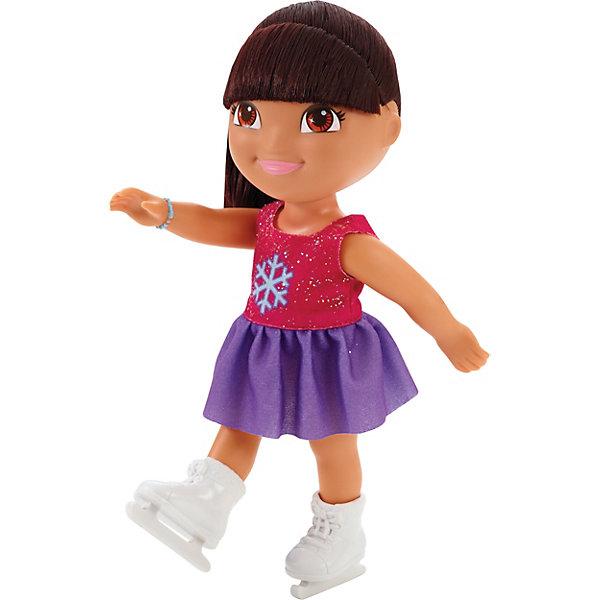 Кукла Даша на катке, Fisher Price, Даша-путешественницаДаша-путешественница<br>Кукла Даша на катке, Fisher Price, Даша-путешественница.<br><br>Характеристики:<br><br>• Высота куклы: 22 см.<br>• Материал: пластик, текстиль<br><br>Кукла Даша подарит девочке встречу с героиней любимого мультфильма и станет верным другом во всех играх и приключениях. Любознательная Даша умеет, кажется, все на свете, в том числе и кататься на коньках. На Даше одето кроткое платье с пышной сиреневой юбкой и розовым верхом, который украшен блестками и изображением снежинки. <br><br>На руке Даши - ее любимый голубой браслет. На ногах – коньки. У Даши смуглая кожа, большие выразительные карие глаза, нежно-розовые губки и озорная короткая челка. Лицо куклы тщательно прорисовано. Волосы прошиты густо, они длинные и мягкие, их можно расчесывать и заплетать. Руки и ноги куклы подвижны, голова вращается. Кукла изготовлена из качественных безопасных для здоровья материалов.<br><br>Куклу Даша на катке, Fisher Price, Даша-путешественница можно купить в нашем интернет-магазине.<br><br>Ширина мм: 125<br>Глубина мм: 90<br>Высота мм: 230<br>Вес г: 238<br>Возраст от месяцев: 36<br>Возраст до месяцев: 120<br>Пол: Женский<br>Возраст: Детский<br>SKU: 5440322