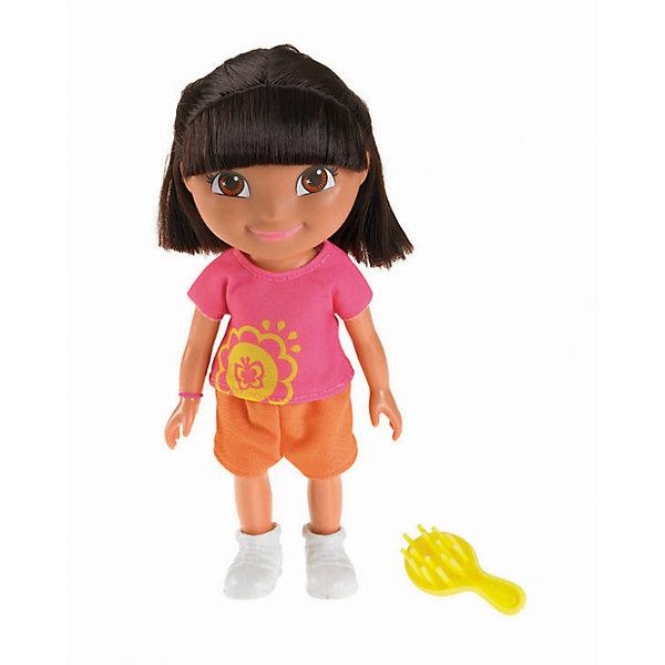 Кукла Даша из серии Приключения каждый день, Fisher Price, Даша-путешественницаДаша-путешественница<br>Кукла из серии Приключения каждый день, Fisher Price, Даша-путешественница.<br><br>Характеристики:<br><br>• Высота куклы: 22 см.<br>• Материал: пластик, текстиль<br><br>Кукла Даша подарит девочке встречу с героиней любимого мультфильма и станет верным другом во всех играх и приключениях. Даша одета в сиреневую футболку с ярко-желтым рисунком, оранжевые шорты и удобные белые ботиночки. На руке Даши - ее любимый голубой браслет. <br><br>У Даши смуглая кожа, большие выразительные карие глаза, нежно-розовые губки и озорная короткая челка. Лицо куклы тщательно прорисовано. Темно-каштановые волосы прошиты густо, они длинные и мягкие, их можно расчесывать и заплетать. Руки и ноги куклы подвижны, голова вращается. Кукла изготовлена из качественных безопасных для здоровья материалов.<br><br>Куклу из серии Приключения каждый день, Fisher Price, Даша-путешественница можно купить в нашем интернет-магазине.<br><br>Ширина мм: 125<br>Глубина мм: 90<br>Высота мм: 230<br>Вес г: 238<br>Возраст от месяцев: 36<br>Возраст до месяцев: 120<br>Пол: Женский<br>Возраст: Детский<br>SKU: 5440324