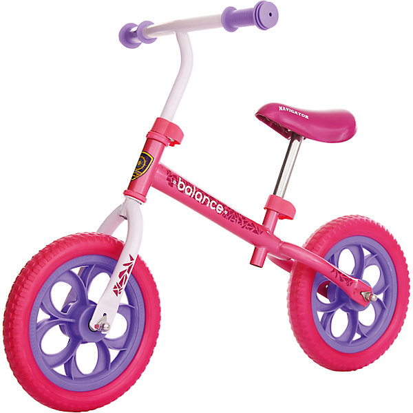 Беговел Balance, розовый, NavigatorБеговелы<br>Беговел Balance, розовый, Navigator (Навигатор)<br><br>Характеристики:<br><br>• колеса плавно едут по дороге<br>• высота сиденья регулируется<br>• диаметр колес - 12 дюймов<br>• максимальная нагрузка: 35 кг<br>• материал колес: EVA<br>• размер: 88х42х56 см<br>• материал: сталь<br>• размер упаковки: 16х32х57 см<br>• вес: 3,520 кг<br><br>Первое транспортное средство ребенка должно быть красивым и безопасным. Беговел Navigator  изготовлен из качественных прочных материалов, а его рама украшена стильными узорами. Высота сидения регулируется. Ручки очень удобны для ребенка. Колеса из EVA-полимера очень легкие и хорошо передвигаются по дороге. Кататься на ярком красивом беговеле очень весело и интересно!<br><br>Беговел Balance, розовый, Navigator (Навигатор) вы можете купить в нашем интернет-магазине.<br>Ширина мм: 580; Глубина мм: 310; Высота мм: 160; Вес г: 3320; Возраст от месяцев: 36; Возраст до месяцев: 2147483647; Пол: Женский; Возраст: Детский; SKU: 5440864;