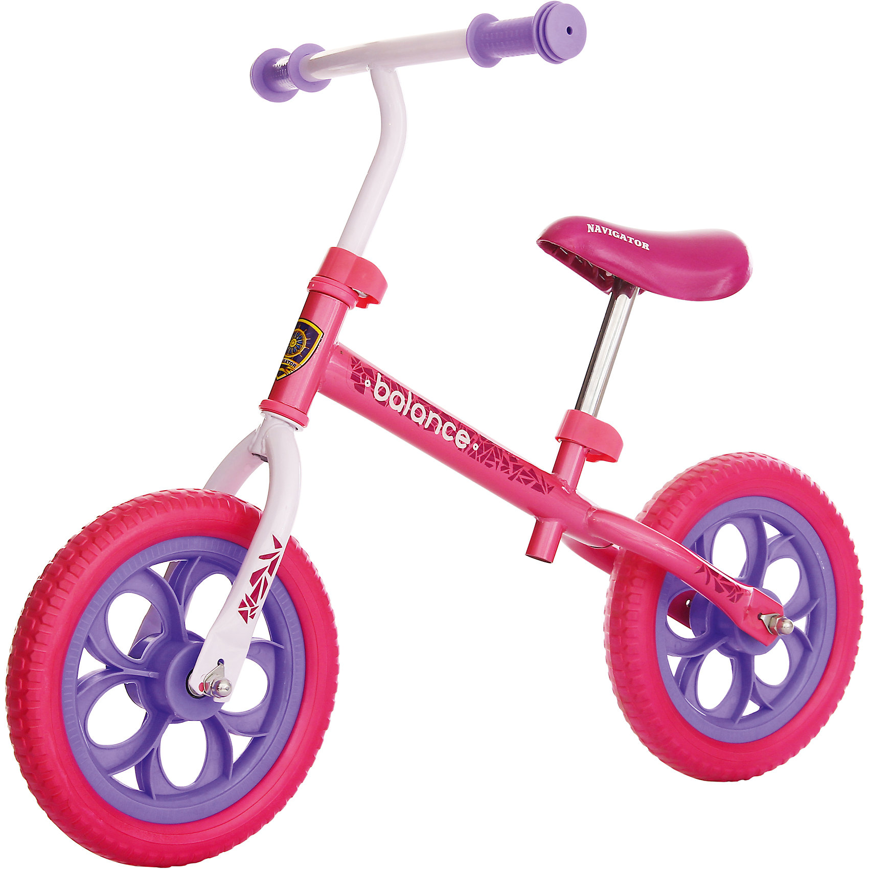 Беговел Balance, розовый, NavigatorБеговелы<br>Беговел Balance, розовый, Navigator (Навигатор)<br><br>Характеристики:<br><br>• колеса плавно едут по дороге<br>• высота сиденья регулируется<br>• диаметр колес - 12 дюймов<br>• максимальная нагрузка: 35 кг<br>• материал колес: EVA<br>• размер: 88х42х56 см<br>• материал: сталь<br>• размер упаковки: 16х32х57 см<br>• вес: 3,520 кг<br><br>Первое транспортное средство ребенка должно быть красивым и безопасным. Беговел Navigator  изготовлен из качественных прочных материалов, а его рама украшена стильными узорами. Высота сидения регулируется. Ручки очень удобны для ребенка. Колеса из EVA-полимера очень легкие и хорошо передвигаются по дороге. Кататься на ярком красивом беговеле очень весело и интересно!<br><br>Беговел Balance, розовый, Navigator (Навигатор) вы можете купить в нашем интернет-магазине.<br><br>Ширина мм: 580<br>Глубина мм: 310<br>Высота мм: 160<br>Вес г: 3320<br>Возраст от месяцев: 36<br>Возраст до месяцев: 2147483647<br>Пол: Женский<br>Возраст: Детский<br>SKU: 5440864