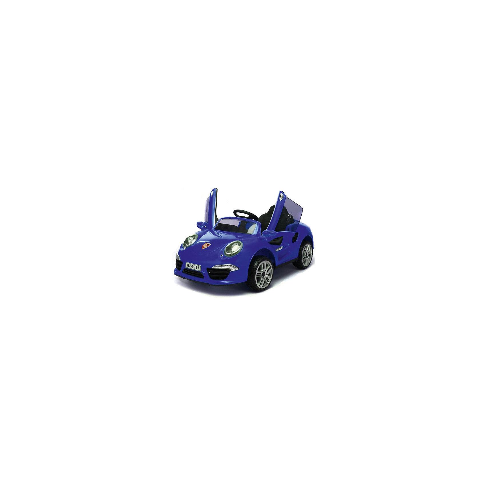 Аккумуляторная машина Порше 911, синий, 1toyЭлектромобили<br>Аккумуляторная машина Порше 911, синий, 1toy (Ван Той)<br><br>Характеристики:<br><br>• реалистичная модель Порше 911<br>• световые и звуковые эффекты<br>• регулируемая громкость<br>• 2 скорости<br>• открывающиеся двери<br>• светящиеся колеса<br>• MP3<br>• скорость до 5 км/ч<br>• радиус действия ПДУ: до 20 метров<br>• мотор: 2х25 Вт<br>• аккумулятор: 2х6В/4,5 Ач<br>• время игры: до 2 часов<br>• время зарядки: 8-12 часов<br>• размер игрушки: 120х69х50 см<br>• вес: 15 кг<br>• максимальная нагрузка: 30 кг<br>• цвет: синий<br><br>С электромобилем Порше 911 ваш ребенок сможет почувствовать себя настоящим водителем! Машина имеет очень реалистичный дизайн. Дверцы открываются, чтобы маленький гонщик смог воспользоваться электромобилем, как настоящей машиной. Порше 911 имеет световые и звуковые эффекты, а также музыкальное сопровождение. Громкость звука можно регулировать. <br><br>Большой радиус действия пульта управления (до 20 метров) позволит вам контролировать движение ребенка на большом расстоянии. Автомобиль имеет две скорости движения до 5 км/ч. Эта игрушка вызовет восторг у каждого начинающего водителя!<br><br>Аккумуляторную машину Порше 911, синий, 1toy (Ван Той) вы можете купить в нашем интернет-магазине.<br><br>Ширина мм: 1200<br>Глубина мм: 320<br>Высота мм: 570<br>Вес г: 18000<br>Возраст от месяцев: 36<br>Возраст до месяцев: 2147483647<br>Пол: Унисекс<br>Возраст: Детский<br>SKU: 5440870