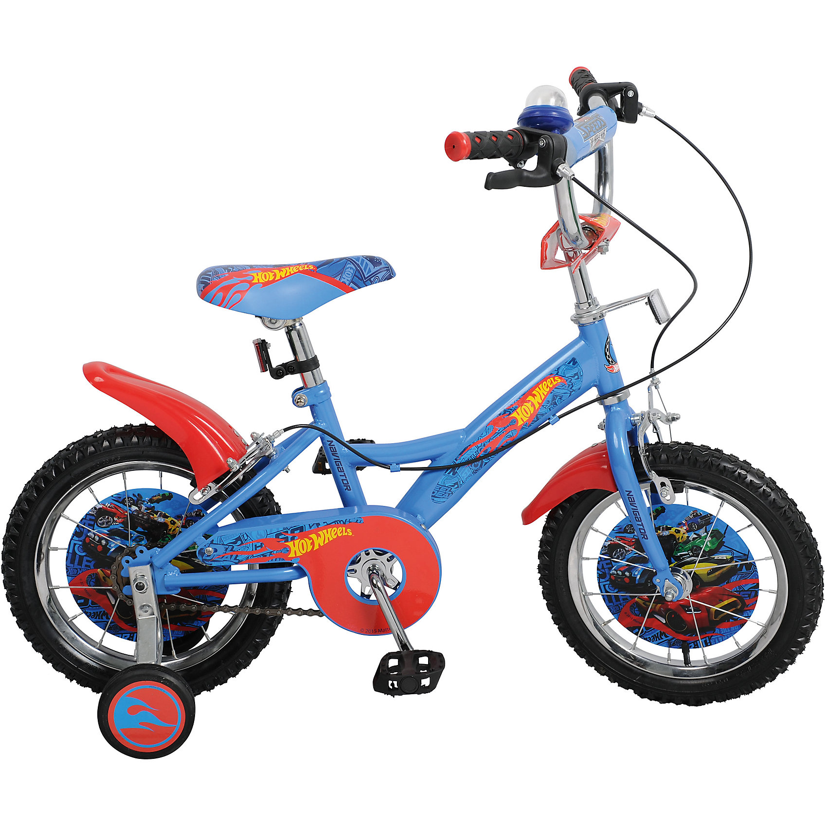 Двухколесный велосипед KITE, Hot Wheel, TopGearHot Wheels<br>Характеристики товара:<br><br>• материал: металл, полимер<br>• цвет: голубой<br>• диаметр колес: 14 дюймов<br>• дополнительные страховочные колеса<br>• удобный руль <br>• защитные крылья<br>• защита цепи<br>• стальная прочная рама<br>• регулировка сиденья по высоте<br>• багажник<br>• мягкое удобное сиденье<br>• светоотражающие элементы<br>• педали с рифленой поверхностью<br>• принт<br>• рост: до 125 см<br>• надежные материалы<br>• бутиловые шины хорошо удерживают воздух <br>• продуманная конструкция<br>• яркий цвет<br>• возраст: от 3 лет<br>• ручные тормоза<br>• вес: 9 кг<br><br>Подарить малышу такой велосипед - значит, помочь развитию ребенка. Он способствует скорейшему развитию способности ориентироваться в пространстве, развивает физические способности, мышление и ловкость. Помимо этого, кататься на нём - очень увлекательное занятие!<br><br>Этот велосипед разработан специально для детей. В комплект входят дополнительные страховочные колеса, которые можно снять, когда ребенок научится уверенно ездить. Данная модель выполнена в ярком дизайне, отличается продуманной конструкцией и деталями, которые обеспечивают безопасность ребенка. Отличный подарок для активного малыша!<br><br>Двухколесный велосипед KITE, Hot Wheel, TopGear от бренда Navigator можно купить в нашем интернет-магазине.<br><br>Ширина мм: 800<br>Глубина мм: 360<br>Высота мм: 170<br>Вес г: 9600<br>Возраст от месяцев: 48<br>Возраст до месяцев: 2147483647<br>Пол: Мужской<br>Возраст: Детский<br>SKU: 5440876