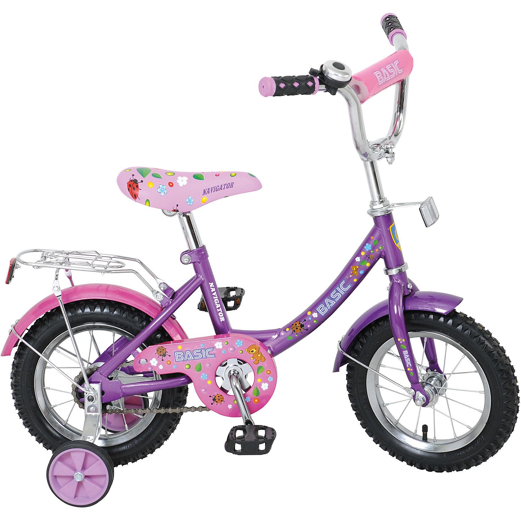 Двухколесный велосипед Basic, розово-фиолетовый, NavigatorДетский велосипед с ярким дизайном бюджетного ценового сегмента.<br><br>Ширина мм: 720<br>Глубина мм: 330<br>Высота мм: 170<br>Вес г: 9000<br>Возраст от месяцев: 300<br>Возраст до месяцев: 2147483647<br>Пол: Женский<br>Возраст: Детский<br>SKU: 5440877