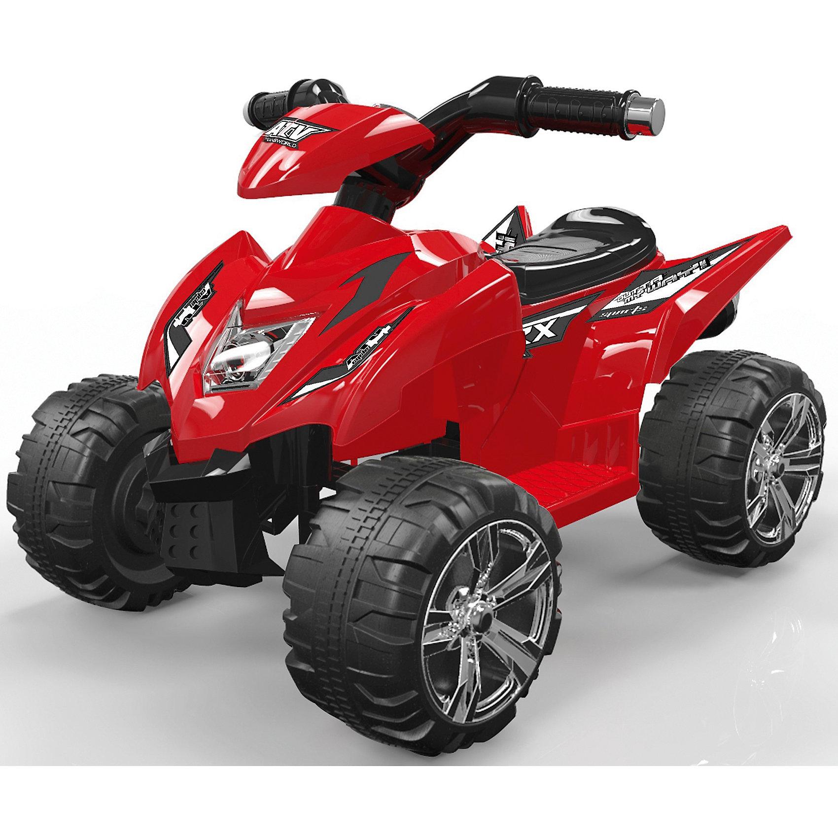 Детский эектрический квадроцикл, в ассортименте, NavigatorЭлектромобили<br>Аккумуляторный квадроцикл со световыми и звуковыми эффектами.  <br>Управляемый квадроцикл может стать одной из самых любимых игрушек Вашего ребенка. Квадроцикл имеет максимально реалистичный вид, выполнен в ярких, привлекательных цветах, что делает его ещё более интересной. Квадроцикл оснащен звуковыми сигналами и музыкальным сопровождением. Во избежание проблем с эксплуатацией модель сопровождается подробной инструкцией на русском языке.<br><br>Ширина мм: 700<br>Глубина мм: 290<br>Высота мм: 500<br>Вес г: 7500<br>Возраст от месяцев: 36<br>Возраст до месяцев: 2147483647<br>Пол: Унисекс<br>Возраст: Детский<br>SKU: 5440879