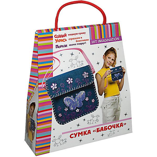 Набор для детского творчества Сумка БабочкаШитьё<br>В наборе текстильная заготовка для сумки, ремешок, набор для шитья, краска, блестки и бабочка с пайетками для декорирования, инструкция.<br><br>Ширина мм: 230<br>Глубина мм: 75<br>Высота мм: 250<br>Вес г: 170<br>Возраст от месяцев: 60<br>Возраст до месяцев: 144<br>Пол: Женский<br>Возраст: Детский<br>SKU: 5441233