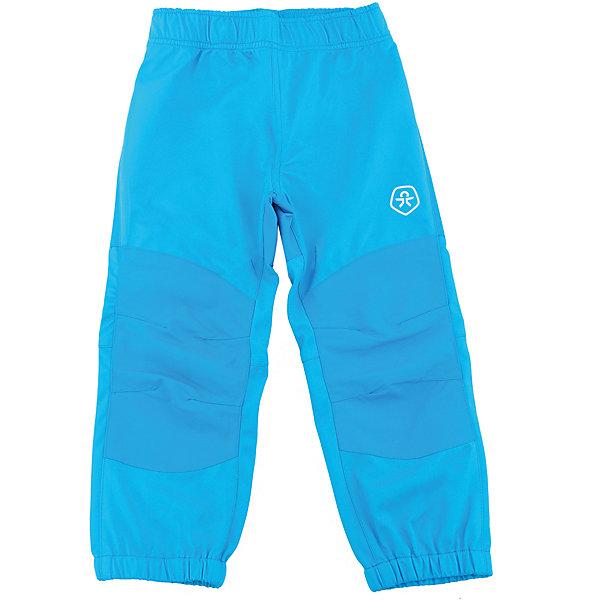 Брюки для мальчика Color KidsВерхняя одежда<br>Характеристики товара:<br><br>• цвет: голубой<br>• состав: 100 % полиэстер, softshell клееный с интерлоком<br>• без утеплителя<br>• температурный режим: от +5°до +15°С<br>• мембранная технология<br>• водонепроницаемость: 8000 мм<br>• воздухопроницаемость: 3000 г/м2/24ч<br>• непродуваемые<br>• эластичная резинка в поясе и внизу штанин<br>• светоотражающие детали<br>• усиленные колени<br>• без карманов<br>• комфортная посадка<br>• страна бренда: Дания<br><br>Такие удобные брюки сделаны из плотного полиэстера с мембранной технологией, не промокают и позволяют коже дышать, поэтому отлично подойдут для межсезонья и мокрой погоды. Они комфортно сидят и обеспечивают ребенку необходимое удобство и тепло. Очень стильно смотрятся.<br><br>Брюки для мальчика от датского бренда Color Kids (Колор кидз) можно купить в нашем интернет-магазине.<br>Ширина мм: 215; Глубина мм: 88; Высота мм: 191; Вес г: 336; Цвет: голубой; Возраст от месяцев: 24; Возраст до месяцев: 36; Пол: Мужской; Возраст: Детский; Размер: 98,104,92,86,80,128,122,116,110; SKU: 5442918;