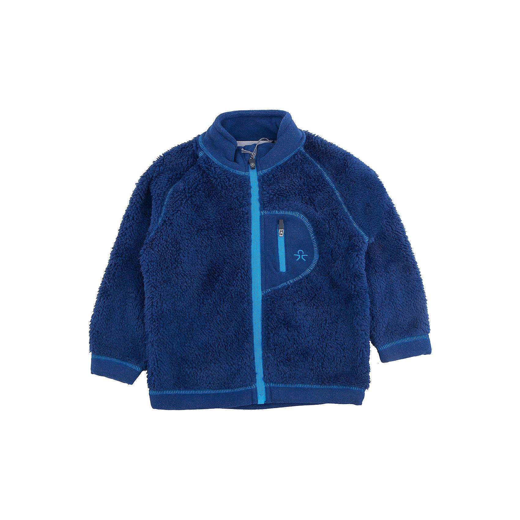 Куртка для мальчика Color KidsФлис и термобелье<br>Характеристики товара:<br><br>• цвет: синий<br>• состав: 100 % полиэстер, микро-флис клееный с ворсом<br>• мягкая отделка низа и рукавов<br>• мягкий воротник<br>• застежка: молния<br>• карман на молнии на груди<br>• защита подбородка<br>• логотип<br>• комфортная посадка<br>• страна бренда: Дания<br><br>Эта симпатичная и удобная куртка сделана из теплого мягкого флиса, поэтому отлично подойдет для создания дополнительного слоя в одежде. Она комфортно сидит и обеспечивает ребенку необходимое удобство и тепло.<br><br>Куртку для девочки от датского бренда Color Kids (Колор кидз) можно купить в нашем интернет-магазине.<br><br>Ширина мм: 356<br>Глубина мм: 10<br>Высота мм: 245<br>Вес г: 519<br>Цвет: синий<br>Возраст от месяцев: 24<br>Возраст до месяцев: 36<br>Пол: Мужской<br>Возраст: Детский<br>Размер: 98,80,86,92<br>SKU: 5442943