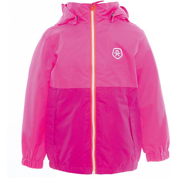 Ветровка для девочки Color KidsВерхняя одежда<br>Характеристики товара:<br><br>• цвет: розовый<br>• состав: 100 % полиэстер, таслан<br>• подкладка: 100% полиэстер, сетка<br>• без утеплителя<br>• температурный режим: от +10°до +20°С<br>• мембранная технология<br>• водонепроницаемость: 2000 мм<br>• ветрозащитная<br>• дышащая<br>• бионическая отделка<br>• эластичная резинка в рукавах и по низу<br>• светоотражающие детали<br>• застежка: молния<br>• съемный капюшон на кнопках<br>• защита подбородка<br>• два кармана<br>• логотип<br>• страна бренда: Дания<br><br>Эта симпатичная и удобная куртка сделана из непромокаемого легкого материала, поэтому отлично подойдет для дождливой погоды в весенне-летний сезон. Она комфортно сидит и обеспечивает ребенку необходимое удобство. Очень стильно смотрится.<br><br>Ветровку для мальчика от датского бренда Color Kids (Колор кидз) можно купить в нашем интернет-магазине.<br><br>Ширина мм: 356<br>Глубина мм: 10<br>Высота мм: 245<br>Вес г: 519<br>Цвет: розовый<br>Возраст от месяцев: 18<br>Возраст до месяцев: 24<br>Пол: Женский<br>Возраст: Детский<br>Размер: 92,140,128,122,116,110,104,98,152<br>SKU: 5443009