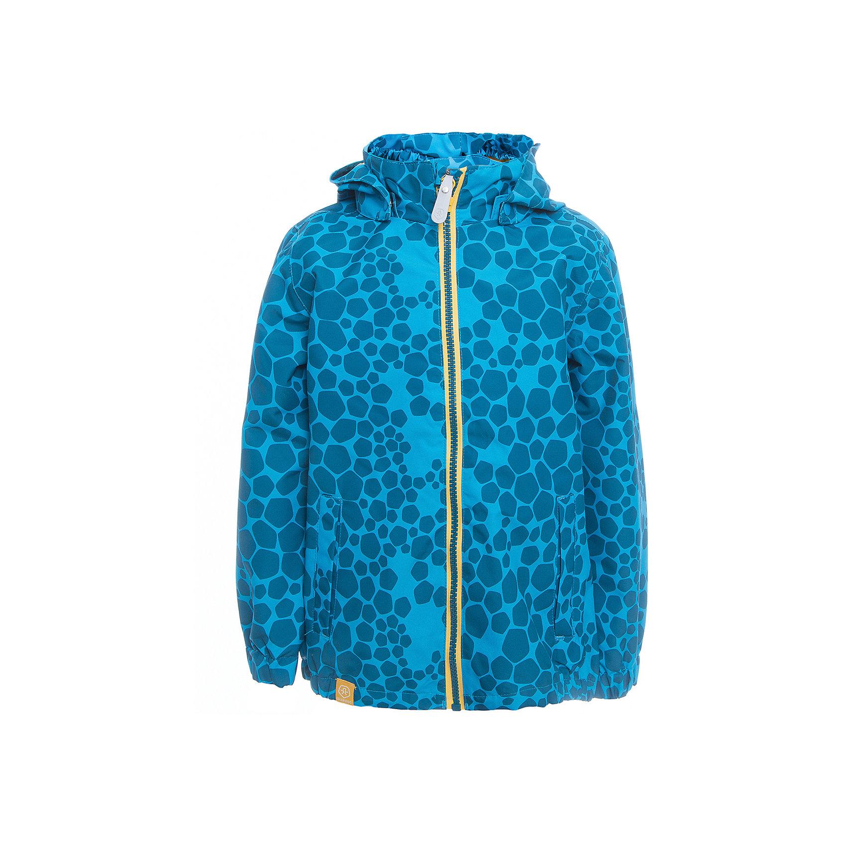 Ветровка для мальчика Color KidsВерхняя одежда<br>Характеристики товара:<br><br>• цвет: голубой<br>• состав: 100 % полиэстер, таслан<br>• подкладка: 100 % полиэфир, тафетта<br>• без утеплителя<br>• температурный режим: +10 С° до +20 С°<br>• мембранная технология<br>• водонепроницаемость: 3000 мм<br>• воздухопроницаемость: 3000 мм<br>• пропитка BIONIC-FINISH® ECO не содержащая фтора, парафина и формальдегида (дополнительная защита от грязи)<br>• проклеенные швы<br>• утяжка по низу куртки<br>• светоотражающие детали<br>• швы проклеены<br>• съемный капюшон<br>• защита подбородка<br>• два кармана на молнии<br>• логотип<br>• страна бренда: Дания<br><br>Эта симпатичная и удобная куртка сделана из непромокаемого легкого материала, поэтому отлично подойдет для дождливой погоды в межсезонье. Она комфортно сидит и обеспечивает ребенку необходимое удобство. Очень стильно смотрится.<br><br>Ветровку для мальчика от датского бренда Color Kids (Колор кидз) можно купить в нашем интернет-магазине.<br><br>Ширина мм: 356<br>Глубина мм: 10<br>Высота мм: 245<br>Вес г: 519<br>Цвет: голубой<br>Возраст от месяцев: 24<br>Возраст до месяцев: 36<br>Пол: Мужской<br>Возраст: Детский<br>Размер: 98,104,110,116,122,140,152,128,92<br>SKU: 5443029