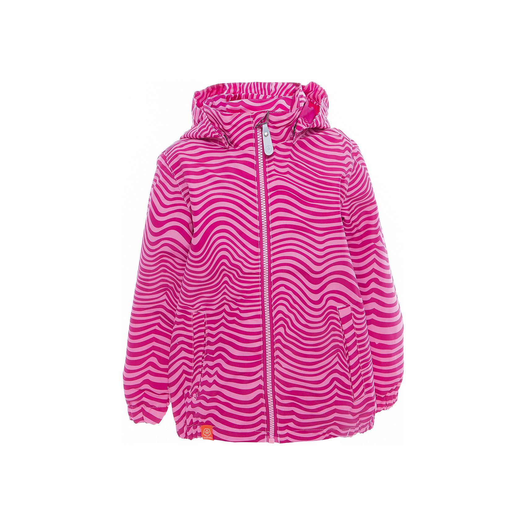 Ветровка для девочки Color KidsВерхняя одежда<br>Характеристики товара:<br><br>• цвет: розовый<br>• состав: 100 % полиэстер, таслан<br>• подкладка: 100 % полиэфир, тафетта<br>• без утеплителя<br>• температурный режим: +10 С° до +20 С°<br>• мембранная технология<br>• водонепроницаемость: 3000 мм<br>• воздухопроницаемость: 3000 мм<br>• пропитка BIONIC-FINISH® ECO не содержащая фтора, парафина и формальдегида (дополнительная защита от грязи)<br>• проклеенные швы<br>• утяжка по низу куртки<br>• светоотражающие детали<br>• швы проклеены<br>• съемный капюшон<br>• защита подбородка<br>• два кармана на молнии<br>• логотип<br>• страна бренда: Дания<br><br>Эта симпатичная и удобная куртка сделана из непромокаемого легкого материала, поэтому отлично подойдет для дождливой погоды в межсезонье. Она комфортно сидит и обеспечивает ребенку необходимое удобство. Очень стильно смотрится.<br><br>Ветровку для мальчика от датского бренда Color Kids (Колор кидз) можно купить в нашем интернет-магазине.<br><br>Ширина мм: 356<br>Глубина мм: 10<br>Высота мм: 245<br>Вес г: 519<br>Цвет: розовый<br>Возраст от месяцев: 24<br>Возраст до месяцев: 36<br>Пол: Женский<br>Возраст: Детский<br>Размер: 98,104,110,116,122,128,140,152,92<br>SKU: 5443049