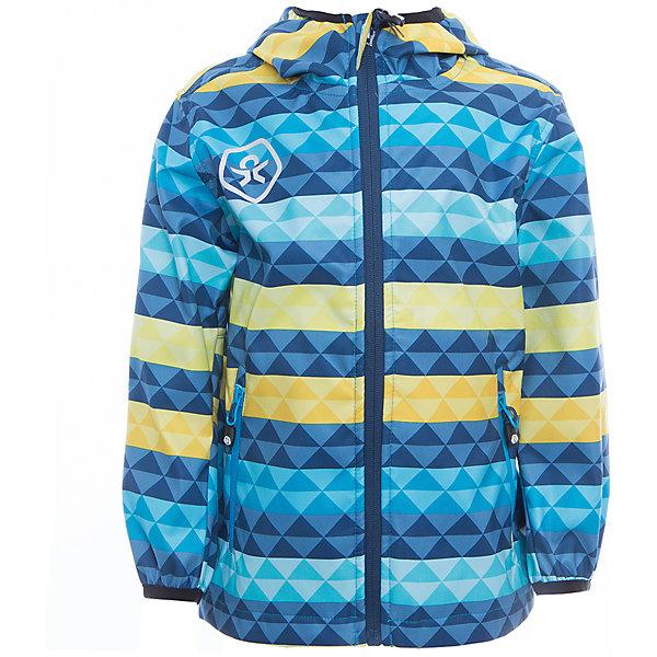 Куртка для мальчика Color KidsВерхняя одежда<br>Характеристики товара:<br><br>• цвет: голубой<br>• состав: 100 % полиэстер, softshell клееный с интерлоком<br>• без подкладки (для Softshell она не нужна, внутренняя сторона этой ткани очень приятная на ощупь)<br>• без утеплителя<br>• температурный режим: от +10 С° до +20 С°<br>• мембранная технология<br>• водонепроницаемость: 8000 мм<br>• воздухопроницаемость: 3000 мм<br>• ветрозащитный<br>• проклеенные швы<br>• регулируемый низ куртки<br>• светоотражающие детали<br>• застежка: молния<br>• вшитый капюшон с оторочкой кантом<br>• защита подбородка<br>• два кармана на молнии<br>• логотип<br>• страна бренда: Дания<br><br>Эта симпатичная и удобная куртка сделана из непромокаемого легкого материала, поэтому отлично подойдет для дождливой погоды в весенне-летний сезон. Она комфортно сидит и обеспечивает ребенку необходимое удобство. Очень стильно смотрится.<br><br>Куртку для мальчика от датского бренда Color Kids (Колор кидз) можно купить в нашем интернет-магазине.<br><br>Ширина мм: 356<br>Глубина мм: 10<br>Высота мм: 245<br>Вес г: 519<br>Цвет: голубой<br>Возраст от месяцев: 24<br>Возраст до месяцев: 36<br>Пол: Мужской<br>Возраст: Детский<br>Размер: 98,104,104,92,152,140,128,122,116,110<br>SKU: 5443079