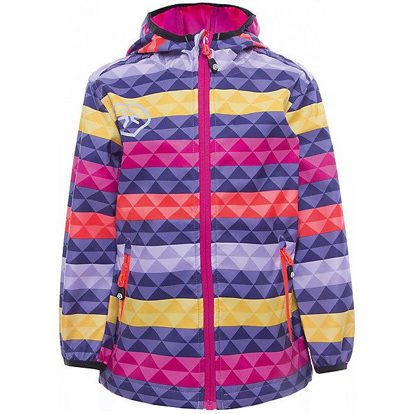 Куртка для девочки Color KidsВерхняя одежда<br>Характеристики товара:<br><br>• цвет: фиолетовый<br>• состав: 100 % полиэстер, softshell клееный с интерлоком<br>• без подкладки (для Softshell она не нужна, внутренняя сторона этой ткани очень приятная на ощупь)<br>• без утеплителя<br>• температурный режим: от +10 С° до +20 С°<br>• мембранная технология<br>• водонепроницаемость: 8000 мм<br>• воздухопроницаемость: 3000 мм<br>• ветрозащитный<br>• проклеенные швы<br>• регулируемый низ куртки<br>• светоотражающие детали<br>• застежка: молния<br>• вшитый капюшон с оторочкой кантом<br>• защита подбородка<br>• два кармана на молнии<br>• логотип<br>• страна бренда: Дания<br><br>Эта симпатичная и удобная куртка сделана из непромокаемого легкого материала, поэтому отлично подойдет для дождливой погоды в весенне-летний сезон. Она комфортно сидит и обеспечивает ребенку необходимое удобство. Очень стильно смотрится.<br><br>Куртку для мальчика от датского бренда Color Kids (Колор кидз) можно купить в нашем интернет-магазине.<br>Ширина мм: 356; Глубина мм: 10; Высота мм: 245; Вес г: 519; Цвет: лиловый; Возраст от месяцев: 36; Возраст до месяцев: 48; Пол: Женский; Возраст: Детский; Размер: 104,104,98,92,152,140,128,122,116,110; SKU: 5443089;