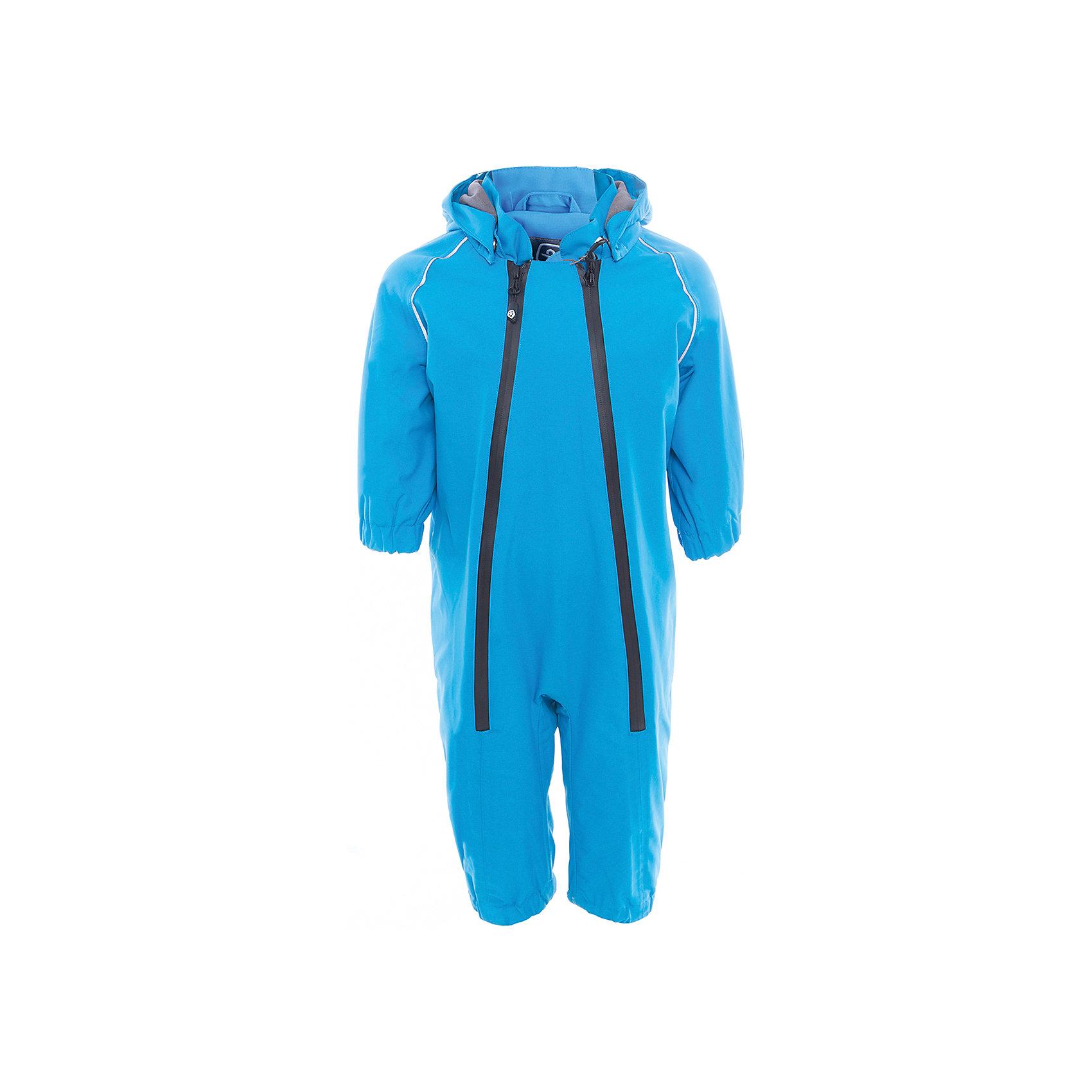 Комбинезон  Color KidsВерхняя одежда<br>Характеристики товара:<br><br>• цвет: голубой<br>• состав: 100 % нейлон, Oxford<br>• подкладка: 100 % полиэстер, микро-флис<br>• без утеплителя<br>• температурный режим: от +7°до +15°С<br>• мембранная технология<br>• водонепроницаемость: 5000 мм<br>• воздухопроницаемость: 5000 мм<br>• ветрозащитный<br>• все швы проклеены<br>• светоотражающие детали<br>• эластичная талия<br>• съёмный капюшон на кнопках<br>• защита подбородка<br>• штрипки<br>• водонепроницаемые молнии<br>• комфортная посадка<br>• страна бренда: Дания<br><br>Такой удобный комбинезон сделана из непромокаемого легкого материала, поэтому отлично подойдет для дождливой погоды в межсезонье. Он комфортно сидит и обеспечивает ребенку необходимое удобство и тепло. Очень стильно смотрится.<br><br>Комбинезон от датского бренда Color Kids (Колор кидз) можно купить в нашем интернет-магазине.<br><br>Ширина мм: 356<br>Глубина мм: 10<br>Высота мм: 245<br>Вес г: 519<br>Цвет: голубой<br>Возраст от месяцев: 24<br>Возраст до месяцев: 36<br>Пол: Унисекс<br>Возраст: Детский<br>Размер: 98,74,80,86,92<br>SKU: 5443114