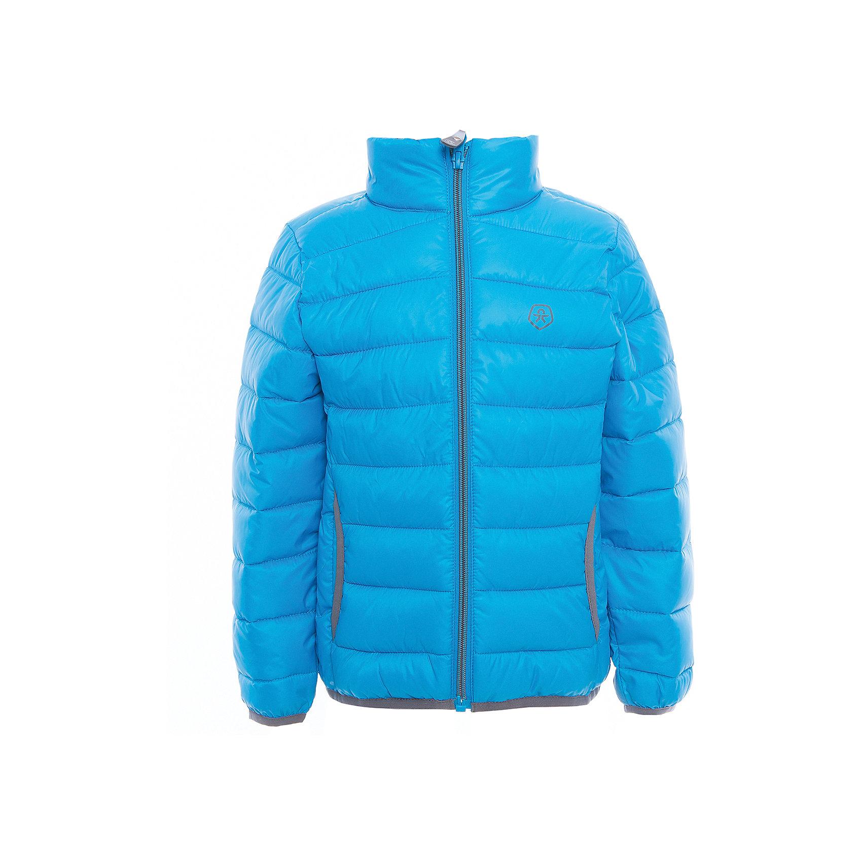 Куртка  Color KidsВерхняя одежда<br>Характеристики товара:<br><br>• цвет: голубой<br>• состав: 100 % полиэстер<br>• подкладка: 100 % полиэстер<br>• утеплитель: 160г/м синтепон<br>• температурный режим: от -5° С до +10°С<br>• светоотражающие детали<br>• застежка: молния<br>• защита подбородка<br>• два кармана<br>• логотип<br>• комфортная посадка<br>• страна бренда: Дания<br><br>Эта симпатичная и удобная куртка отлично подойдет для ношения в межсезонье. Она комфортно сидит и обеспечивает ребенку необходимое удобство. Очень стильно смотрится.<br><br>Куртку от датского бренда Color Kids (Колор кидз) можно купить в нашем интернет-магазине.<br><br>Ширина мм: 356<br>Глубина мм: 10<br>Высота мм: 245<br>Вес г: 519<br>Цвет: голубой<br>Возраст от месяцев: 24<br>Возраст до месяцев: 36<br>Пол: Унисекс<br>Возраст: Детский<br>Размер: 98,104,110,116,122,128,140,152,92<br>SKU: 5443126
