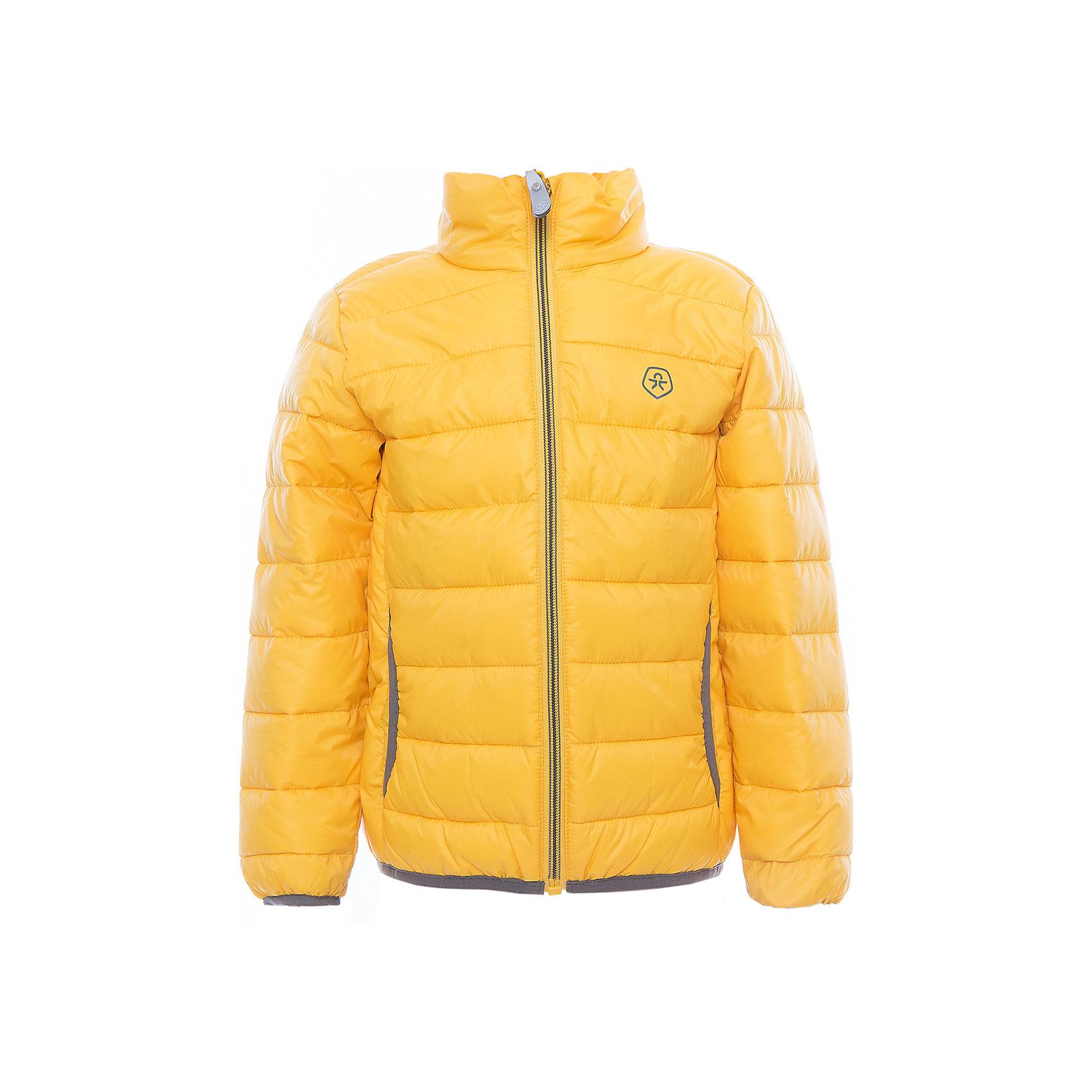 Куртка  Color KidsВерхняя одежда<br>Характеристики товара:<br><br>• цвет: жёлтый<br>• состав: 100 % полиэстер<br>• подкладка: 100 % полиэстер<br>• утеплитель: 160г/м синтепон<br>• температурный режим: от -5° С до +10°С<br>• светоотражающие детали<br>• застежка: молния<br>• защита подбородка<br>• два кармана<br>• логотип<br>• комфортная посадка<br>• страна бренда: Дания<br><br>Эта симпатичная и удобная куртка отлично подойдет для ношения в межсезонье. Она комфортно сидит и обеспечивает ребенку необходимое удобство. Очень стильно смотрится.<br><br>Куртку от датского бренда Color Kids (Колор кидз) можно купить в нашем интернет-магазине.<br><br>Ширина мм: 356<br>Глубина мм: 10<br>Высота мм: 245<br>Вес г: 519<br>Цвет: желтый<br>Возраст от месяцев: 24<br>Возраст до месяцев: 36<br>Пол: Унисекс<br>Возраст: Детский<br>Размер: 98,104,110,116,122,128,140,152,92<br>SKU: 5443136