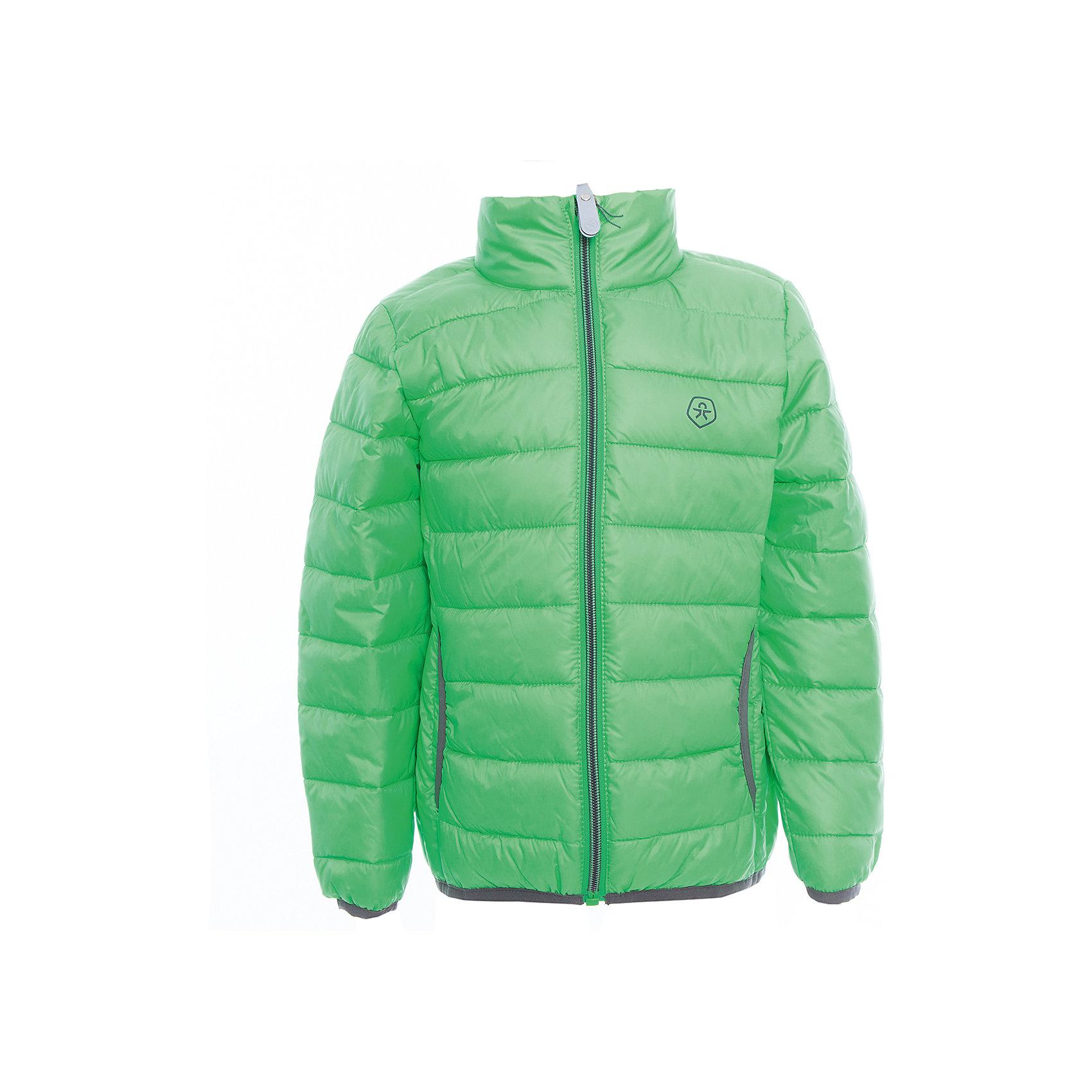 Куртка  Color KidsВерхняя одежда<br>Характеристики товара:<br><br>• цвет: зелёный<br>• состав: 100 % полиэстер<br>• подкладка: 100 % полиэстер<br>• утеплитель: 160г/м синтепон<br>• температурный режим: от -5° С до +10°С<br>• светоотражающие детали<br>• застежка: молния<br>• защита подбородка<br>• два кармана<br>• логотип<br>• комфортная посадка<br>• страна бренда: Дания<br><br>Эта симпатичная и удобная куртка отлично подойдет для ношения в межсезонье. Она комфортно сидит и обеспечивает ребенку необходимое удобство. Очень стильно смотрится.<br><br>Куртку от датского бренда Color Kids (Колор кидз) можно купить в нашем интернет-магазине.<br><br>Ширина мм: 356<br>Глубина мм: 10<br>Высота мм: 245<br>Вес г: 519<br>Цвет: зеленый<br>Возраст от месяцев: 24<br>Возраст до месяцев: 36<br>Пол: Унисекс<br>Возраст: Детский<br>Размер: 98,104,110,116,122,128,140,152,92<br>SKU: 5443146