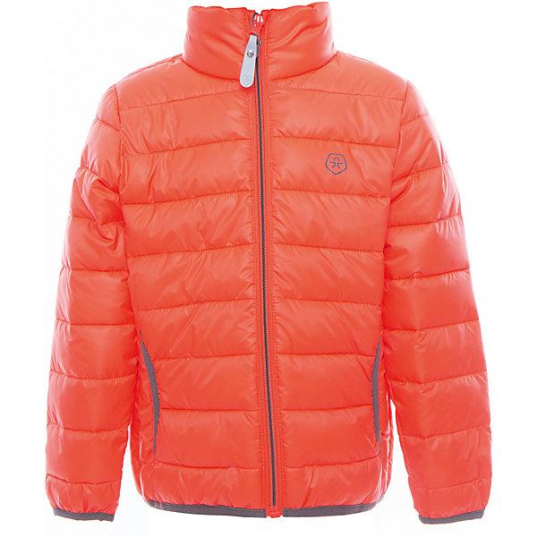 Куртка  Color KidsВерхняя одежда<br>Характеристики товара:<br><br>• цвет: оранжевый<br>• состав: 100 % полиэстер<br>• подкладка: 100 % полиэстер<br>• утеплитель: 160г/м синтепон<br>• температурный режим: от -5° С до +10°С<br>• светоотражающие детали<br>• застежка: молния<br>• защита подбородка<br>• два кармана<br>• логотип<br>• комфортная посадка<br>• страна бренда: Дания<br><br>Эта симпатичная и удобная куртка отлично подойдет для ношения в межсезонье. Она комфортно сидит и обеспечивает ребенку необходимое удобство. Очень стильно смотрится.<br><br>Куртку от датского бренда Color Kids (Колор кидз) можно купить в нашем интернет-магазине.<br><br>Ширина мм: 356<br>Глубина мм: 10<br>Высота мм: 245<br>Вес г: 519<br>Цвет: розовый<br>Возраст от месяцев: 36<br>Возраст до месяцев: 48<br>Пол: Унисекс<br>Возраст: Детский<br>Размер: 104,98,92,152,140,128,122,116,110<br>SKU: 5443156