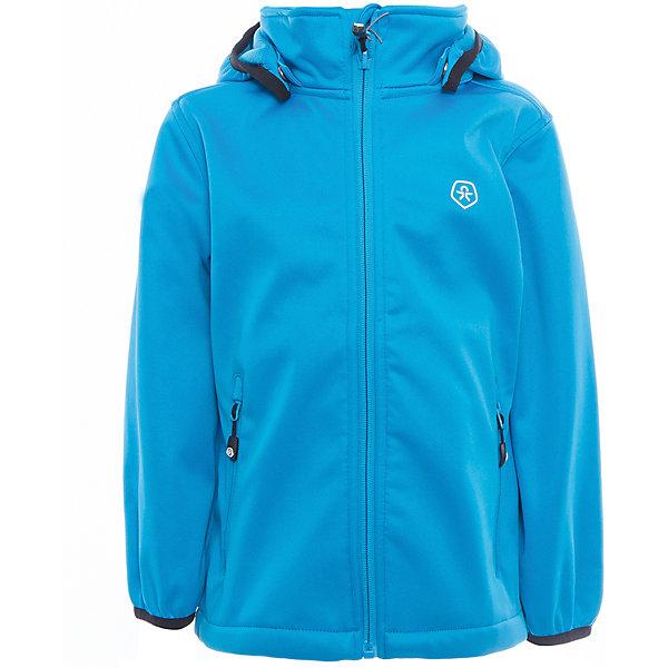 Куртка для мальчика Color KidsВерхняя одежда<br>Характеристики товара:<br><br>• цвет: голубой<br>• состав: 100 % полиэстер, softshell клееный с флисом<br>• без утеплителя<br>• температурный режим: от +5°до +15°С<br>• мембранная технология<br>• водонепроницаемость: 5000 мм<br>• воздухопроницаемость: 1000 г/м2/24ч<br>• ветрозащитный<br>• регулируемый низ куртки<br>• светоотражающие детали<br>• застежка: молния<br>• съёмный капюшон на кнопках<br>• защита подбородка<br>• два кармана на молнии<br>• логотип<br>• страна бренда: Дания<br><br>Эта симпатичная и удобная куртка сделана из непромокаемого легкого материала, поэтому отлично подойдет для дождливой погоды в весенне-летний сезон. Она комфортно сидит и обеспечивает ребенку необходимое удобство. Очень стильно смотрится. <br><br>Куртку для мальчика от датского бренда Color Kids (Колор кидз) можно купить в нашем интернет-магазине.<br><br>Ширина мм: 356<br>Глубина мм: 10<br>Высота мм: 245<br>Вес г: 519<br>Цвет: голубой<br>Возраст от месяцев: 36<br>Возраст до месяцев: 48<br>Пол: Мужской<br>Возраст: Детский<br>Размер: 104,98,92,152,140,128,122,116,110<br>SKU: 5443230