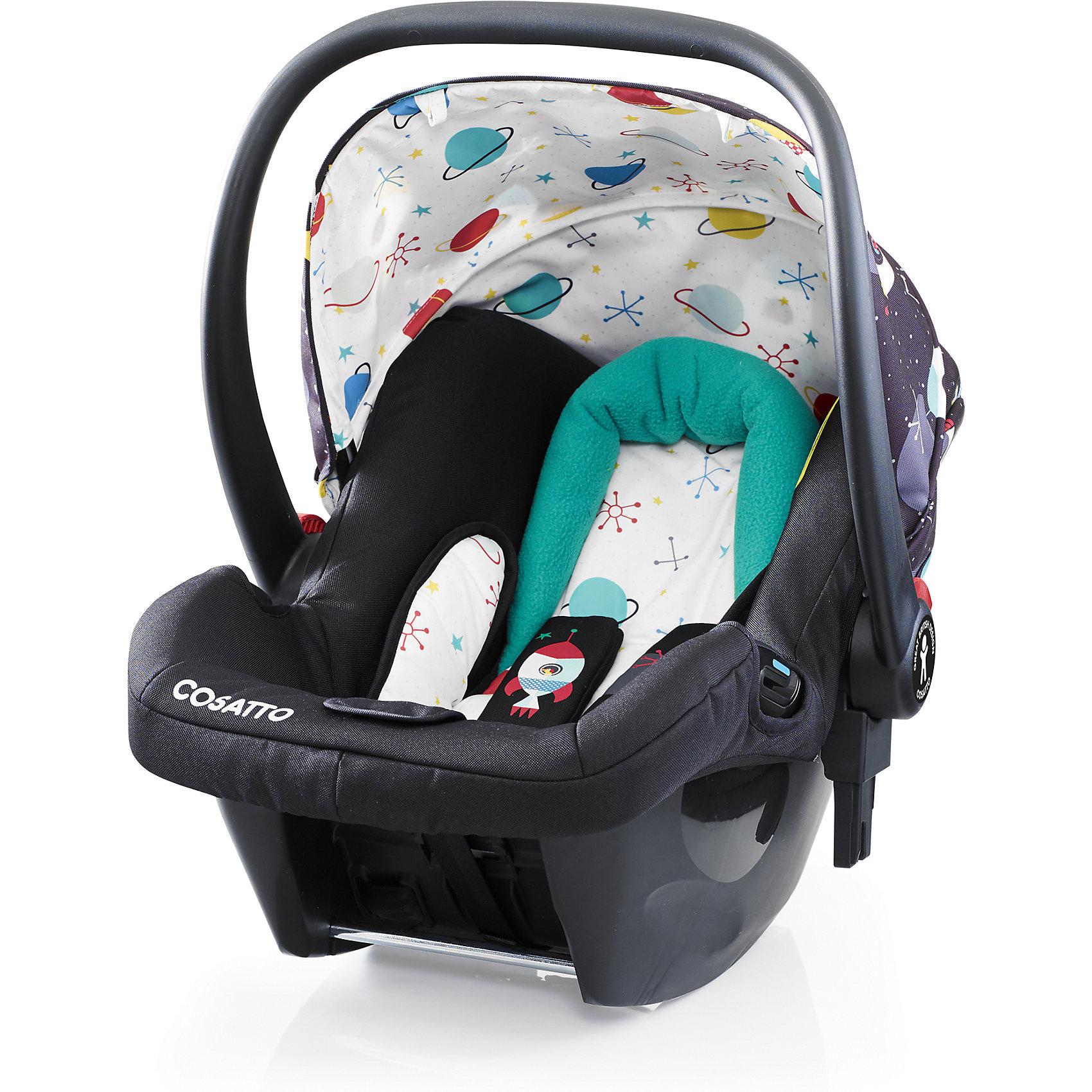 Автокресло Cosatto Hold, 0-13 кг, Space RacerГруппа 0+ (До 13 кг)<br>Характеристики автокресла Hold Cosatto:<br><br>• группа 0+;<br>• вес ребенка: до 13 кг;<br>• возраст ребенка: от рождения до 12 месяцев;<br>• способ установки: против хода движения автомобиля;<br>• способ крепления: штатными ремнями безопасности автомобиля;<br>• есть возможность установить автокресло на базу с системой крепления Isofix - база приобретается отдельно;<br>• 5-ти точечные ремни безопасности с мягкими накладками;<br>• регулируемый защитный капор;<br>• анатомический вкладыш для новорожденного;<br>• в комплекте с автокреслом идет дождевик;<br>• пластиковая ручка, автолюлька используется как переноска, положение ручки меняется;<br>• автокресло можно использовать как кресло-качалку;<br>• чтобы зафиксировать кресло, необходимо изменить положение ручки и создать упор в пол;<br>• съемные чехлы, стирка при температуре 30 градусов;<br>• материал: пластик, полиэстер;<br>• стандарт безопасности: ЕСЕ R44/03.<br><br>Размер автокресла, ДхШхВ: 70х44х60 см<br>Вес автокресла: 4,2 кг<br><br>Автокресло Hold Cosatto устанавливается как против хода движения автомобиля на заднем сиденье. Глубокая чаша просторная, малышу удобно находится в кресле даже в теплом комбинезоне. Анатомический вкладыш с подголовником снимается. Автокресло соответствует европейским стандартам безопасности. Авктокресло можно установить на раму коляски Cosatto. Адаптеры для установки автокресла на шасси коляски входят в комплект.<br><br>Автокресло 0-13 кг., HOLD, COSATTO можно купить в нашем интернет-магазине.<br><br>Ширина мм: 740<br>Глубина мм: 440<br>Высота мм: 380<br>Вес г: 6000<br>Возраст от месяцев: 0<br>Возраст до месяцев: 12<br>Пол: Унисекс<br>Возраст: Детский<br>SKU: 5444496