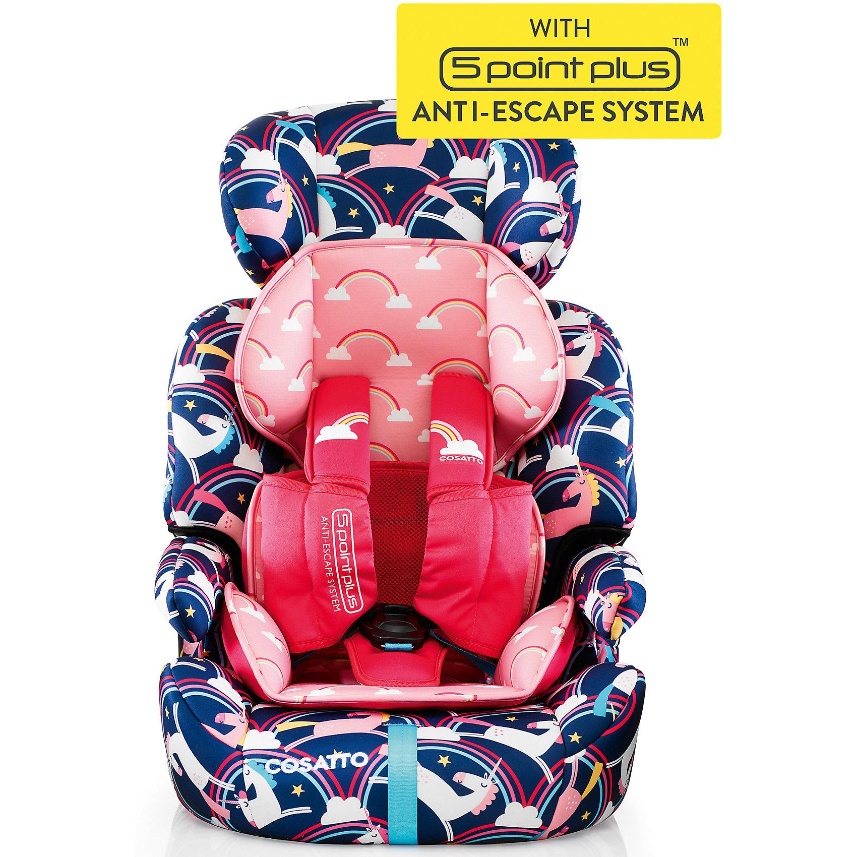 Автокресло Cosatto Zoomi, 9-36 кг, Magic UnicornsГруппа 1-2-3 (От 9 до 36 кг)<br>Характеристики автокресла Zoomi Cosatto:<br><br>• группа 1-2-3;<br>• вес ребенка: 9-36 кг;<br>• возраст ребенка: от 9 месяцев до 12 лет;<br>• способ крепления: с помощью штатных ремней безопасности;<br>• способ установки: лицом по ходу движения автомобиля;<br>• возможность получить бустер с подлокотниками: спинка съемная;<br>• жесткий каркас сиденья обтянут мягкими чехлами;<br>• 5-ти точечные ремни безопасности с мягкими накладками;<br>• регулируемая высота подголовника: 3 положения;<br>• имеется анатомический двусторонний матрасик для маленького ребенка;<br>• съемные чехлы можно стирать при температуре 30 градусов;<br>• материал: пластик, полиэстер.<br><br>Размер автокресла: 70х46х44 см<br>Вес автокресла: 5,3 кг<br>Размер упаковки: 72х45х31 см<br>Вес в упаковке: 7,5 кг<br><br>Автокресло Cosatto Zoomi, 9-36 кг, Magic Unicorns можно купить в нашем интернет-магазине.<br><br>Ширина мм: 720<br>Глубина мм: 450<br>Высота мм: 310<br>Вес г: 8000<br>Возраст от месяцев: 9<br>Возраст до месяцев: 144<br>Пол: Унисекс<br>Возраст: Детский<br>SKU: 5444516