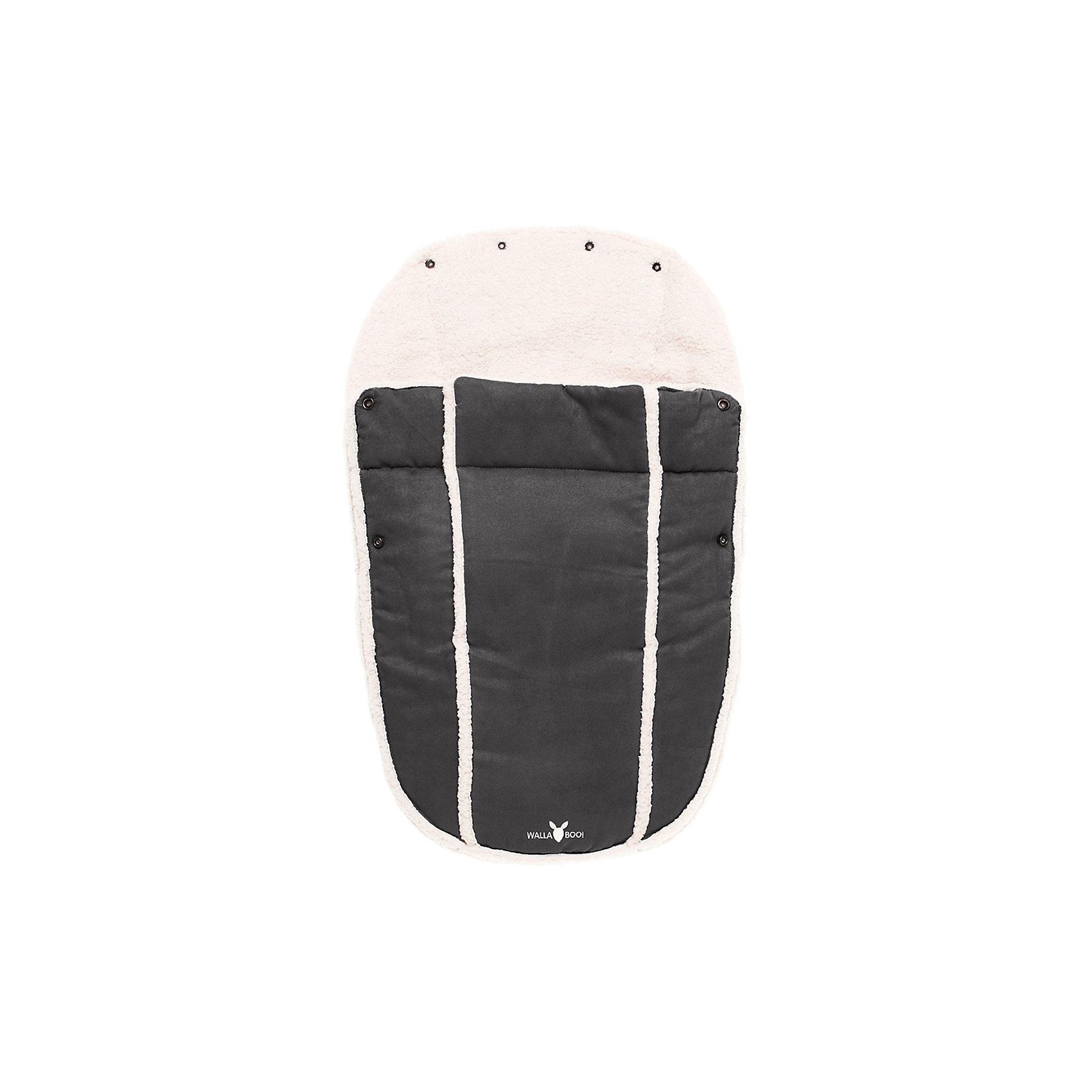 Муфта-конверт в автокресло, Wallaboo, черныйАксессуары<br>Характеристики:<br><br>• конверт предназначен для детей от рождения до 1 года;<br>• материал верха: микроволокнистая замша, материал внутри: плюш, наполнитель: синтепон 120 г;<br>• конверт используется для автокресел группы 0+, колясок-люлек;<br>• верхняя часть конверта отстегивается, конверт можно применять как мягкий вкладыш;<br>• конверт с капюшоном на кнопках;<br>• имеются прорези для ремней безопасности;<br>• конверт застегивается на боковые молнии, которые расположены по всей длине муфты;<br>• размер конверта-муфты: 42х72 см;<br>• размер упаковки: 50х35х7 см;<br>• вес: 600 г.<br><br>Муфта-конверт в автокресло, Wallaboo, черный можно купить в нашем интернет-магазине.<br><br>Ширина мм: 800<br>Глубина мм: 800<br>Высота мм: 50<br>Вес г: 500<br>Возраст от месяцев: 0<br>Возраст до месяцев: 12<br>Пол: Унисекс<br>Возраст: Детский<br>SKU: 5445054