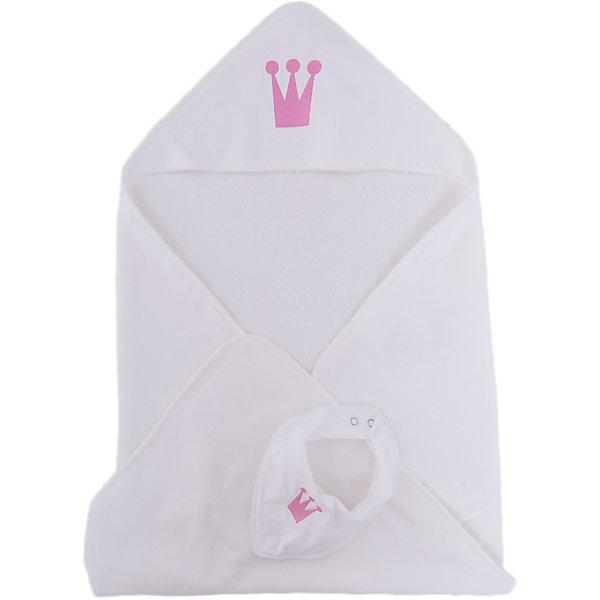 Комплект: нагрудник и полотенце 75х80 Wallaboo, розовый