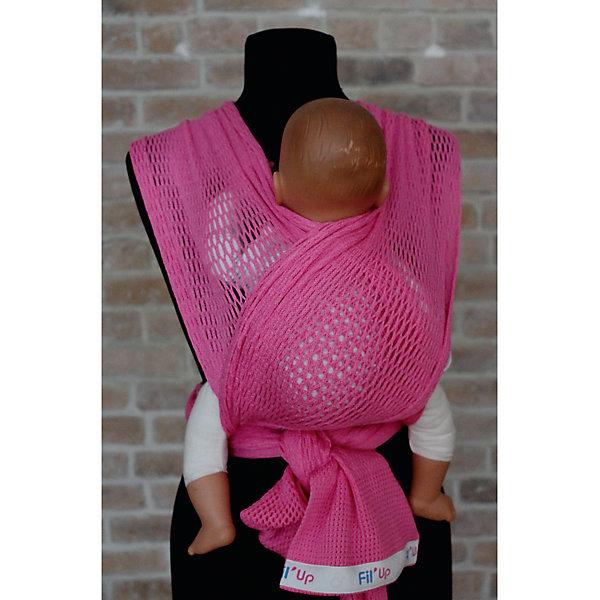 Слинг-шарф из хлопка плетеный размер s-m, Филап, Filt, розовыйСлинги<br>Характеристики:<br><br>• разработан совместно с врачами-ортопедами;<br>• обеспечивает оптимальную поддержку ребенка;<br>• легко наматывается;<br>• два способа намотки: «простой крест» и «двойной крест»;<br>• равномерно распределяет нагрузку на спину;<br>• основное положение: лицом к маме;<br>• подходит для автоматической стирки при температуре 30 градусов;<br>• сумочка в комплекте;<br>• материал: хлопок;<br>• возраст ребенка: 3 месяца-2 года (до 15 кг);<br>• размер слинга: 4,4х0,5 м;<br>• цвет: розовый;<br>• размер упаковки: 24х26х7 см;<br>• вес: 430 грамм;<br>• страна бренда: Франция.<br><br>Слинг-шарф FilUp изготовлен из натурального хлопка сетчатого плетения и окрашен нетоксичными красителями. Плетеный материал защитит ребенка и маму от жары. В зимнее время вы сможете одеть ребенка привычным образом, а слинг предотвратит перегревание. Хлопок приятен телу, не вызывает аллергии.<br><br>Основное положение ребенка в слинге - лицом к маме. Кроме этого, возможно положение на боку и за спиной.  Слинг легко надевается и вытягивается при необходимости. <br><br>Слинг-шарф равномерно распределяет нагрузку на спину, чтобы вы могли носить малыша с комфортом. Широкая центральная часть шарфа удобна для правильной посадки и фиксации ребенка. Ножки ребенка будут находиться в положении, необходимом для правильного развития тазобедренных суставов. Узкие концы слинг-шарфа можно завязать так, чтобы они не мешали вам. <br><br>Слинг-шарф FilUp можно стирать в машинке при температуре 30°.Длина полотна - 4,4 метра. Ширина полотна - 0,5 метра. Подходит для детей от 3-4-х месяцев до 1,5-2-х лет (весом до 15 килограммов).В комплект входит сумочка-авоська, которая подойдет для бутылочек, салфеток и прочих необходимых предметов.<br><br>Слинг-шарф из хлопка плетеный размер s-m, Филап, Filt (Филт), розовый можно купить в нашем интернет-магазине.<br><br>Ширина мм: 800<br>Глубина мм: 800<br>Высота мм: 50<br>Вес г: 500<br>Возр