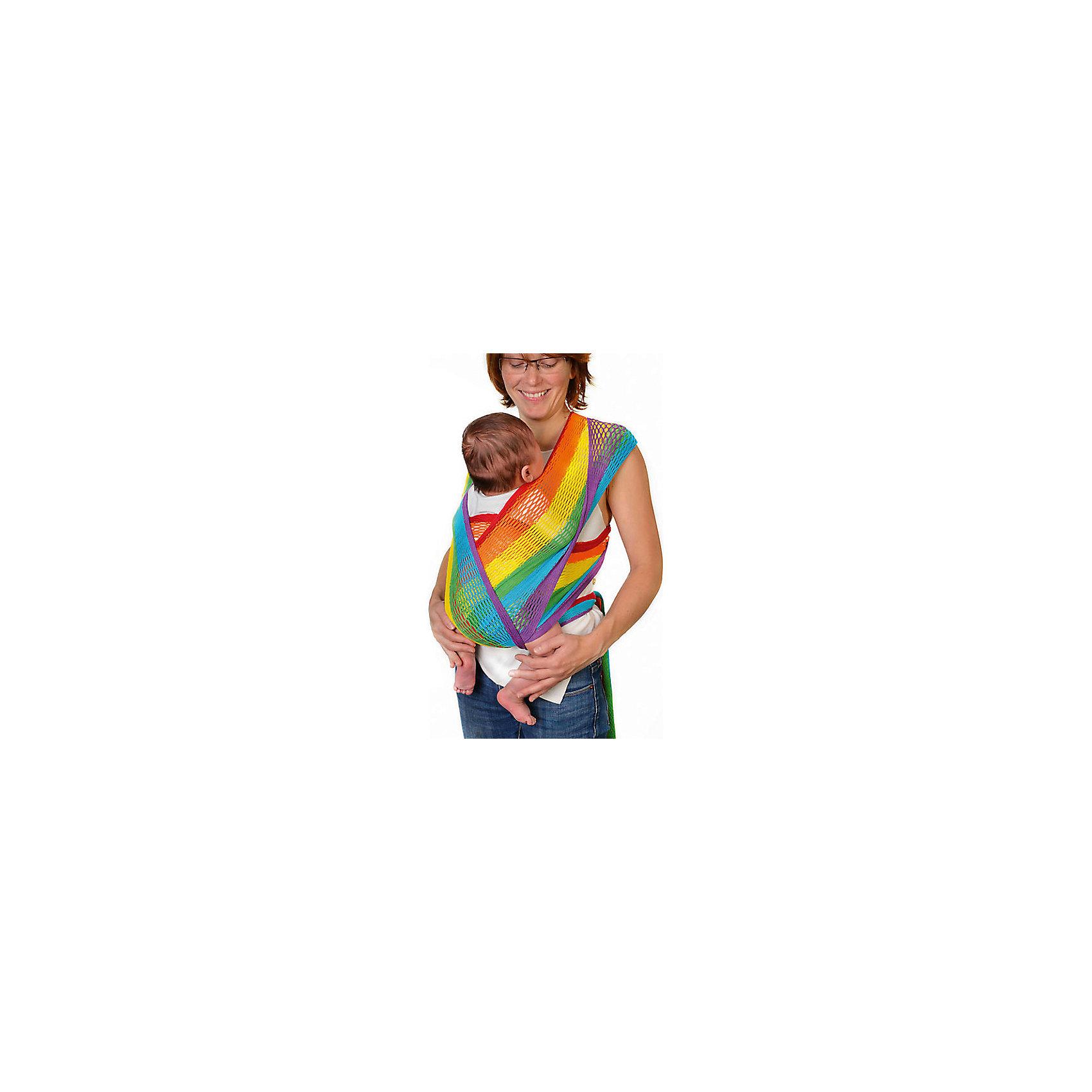Слинг-шарф из хлопка плетеный размер s-m, Филап, Filt, радугаСлинги и рюкзаки-переноски<br>Характеристики:<br><br>• разработан совместно с врачами-ортопедами;<br>• обеспечивает оптимальную поддержку ребенка;<br>• легко наматывается;<br>• два способа намотки: «простой крест» и «двойной крест»;<br>• равномерно распределяет нагрузку на спину;<br>• основное положение: лицом к маме;<br>• подходит для автоматической стирки при температуре 30 градусов;<br>• сумочка в комплекте;<br>• цвет: радуга;<br>• материал: хлопок;<br>• возраст ребенка: 3 месяца-2 года (до 15 кг);<br>• размер слинга: 4,4х0,5 м;<br>• размер упаковки: 24х26х7 см;<br>• вес: 430 грамм;<br>• страна бренда: Франция.<br><br>Слинг-шарф FilUp изготовлен из натурального хлопка сетчатого плетения и окрашен нетоксичными красителями. Плетеный материал защитит ребенка и маму от жары. В зимнее время вы сможете одеть ребенка привычным образом, а слинг предотвратит перегревание. Хлопок приятен телу, не вызывает аллергии.<br><br>Основное положение ребенка в слинге - лицом к маме. Кроме этого, возможно положение на боку и за спиной.  Слинг легко надевается и вытягивается при необходимости. <br><br>Слинг-шарф равномерно распределяет нагрузку на спину, чтобы вы могли носить малыша с комфортом. Широкая центральная часть шарфа удобна для правильной посадки и фиксации ребенка.  Ножки ребенка будут находиться в положении, необходимом для правильного развития тазобедренных суставов. Узкие концы слинг-шарфа можно завязать так, чтобы они не мешали вам. <br><br>Слинг-шарф FilUp можно стирать в машинке при температуре 30°. Длина полотна - 4,4 метра. Ширина полотна - 0,5 метра. Подходит для детей от 3-4-х месяцев до 1,5-2-х лет (весом до 15 килограммов).В комплект входит сумочка-авоська, которая подойдет для бутылочек, салфеток и прочих необходимых предметов.<br><br>Слинг-шарф из хлопка плетеный размер s-m, Филап, Filt (Филт), радуга можно купить в нашем интернет-магазине.<br><br>Ширина мм: 800<br>Глубина мм: 800<br>Высота мм: 50<br