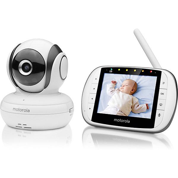 Видеоняня Motorola MBP36S, белыйВидеоняни<br>Характеристики:<br><br>• цифровая видеоняня;<br>• видеонаблюдение за вашим малышом;<br>• родительский блок с цветным дисплеем, диагональ 3,5 дюйма;<br>• радиус действия 200 м;<br>• удаленное изменение положения и угла обзора камеры;<br>• изображение можно увеличить;<br>• оповещение о низком заряде и о выходе из зоны действия;<br>• ИК подсветка в ночное время;<br>• встроенные колыбельные мелодии;<br>• регулировка громкости;<br>• встроенный термометр; <br>• индикатор уровня шума;<br>• подставка для родительского блока;<br>• родительский блок работает от сети или от аккумуляторов;<br>• вес в упаковке: 2, 5 кг.<br><br>Видеоняню Motorola MBP36S, белый можно купить в нашем интернет-магазине.<br>Ширина мм: 230; Глубина мм: 160; Высота мм: 84; Вес г: 400; Возраст от месяцев: 4; Возраст до месяцев: 36; Пол: Унисекс; Возраст: Детский; SKU: 5445330;