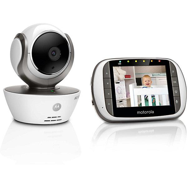 Видеоняня Motorola MBP 853 Connect, белыйВидеоняни<br>Характеристики:<br><br>• два режима передачи данных: 2,4GHz и Wi-Fi;<br>• потоковое H.264 720p HD видео;<br>• двусторонняя связь;<br>• цветной дисплей диагональю 3,5 дюйма;<br>• светодиодная подсветка - радиус освещения до 5 м;<br>• радиус действия: до 300 м;<br>• датчик движения;<br>• датчик температуры;<br>• возможность подключить до 4-х камер;<br>• светодиодная подсветка - радиус освещения до 5 м;<br>• дистанционное управление наклоном и поворотом камеры;<br>• родительский блок работает от сети или встроенных Ni-MH аккумуляторов емкостью 900mAH. <br><br>Видеоняню Motorola MBP 853 Connect, белый можно купить в нашем интернет-магазине.<br>Ширина мм: 230; Глубина мм: 160; Высота мм: 84; Вес г: 400; Возраст от месяцев: 4; Возраст до месяцев: 36; Пол: Унисекс; Возраст: Детский; SKU: 5445335;