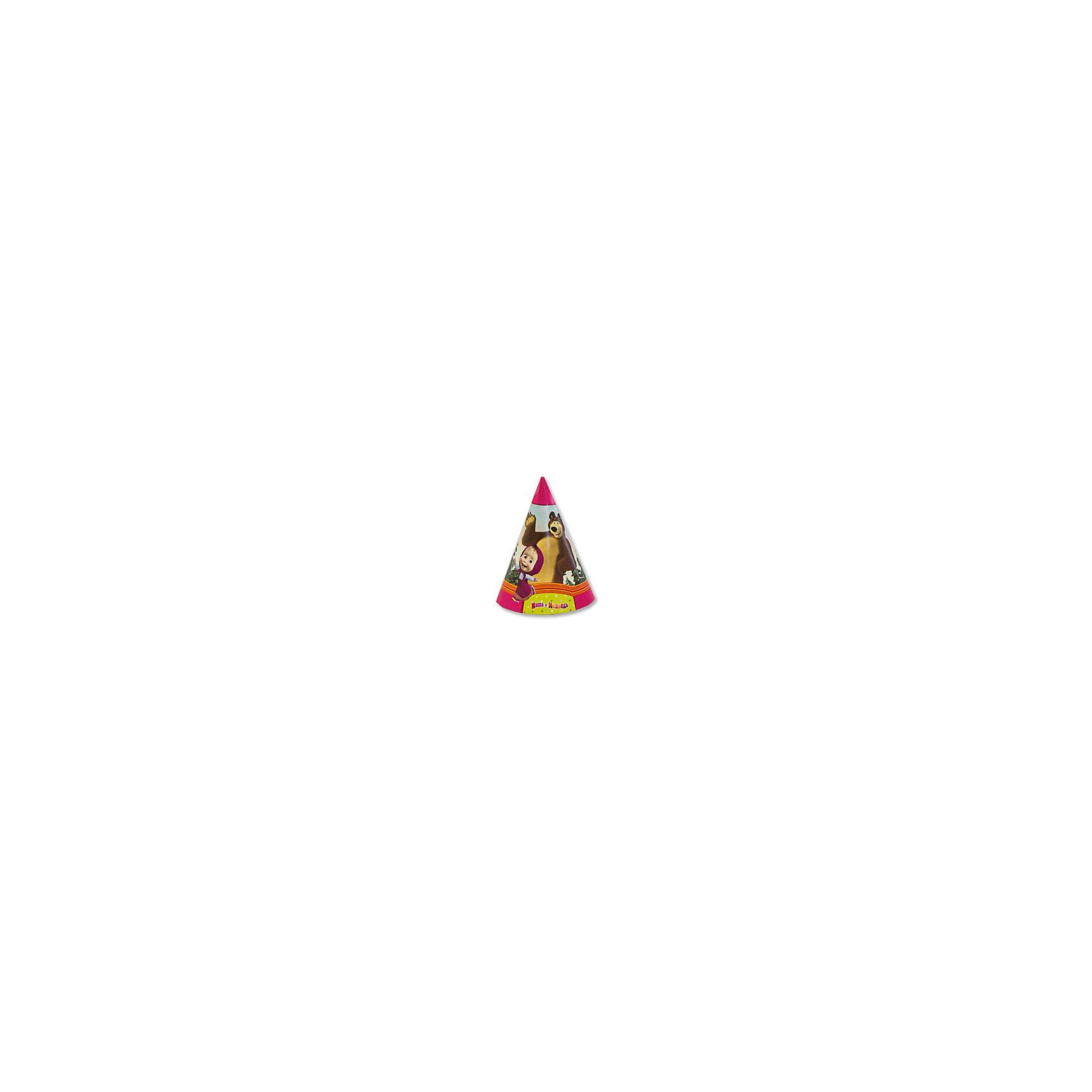 Колпак праздничный Маша и Медведь, 6шт., Веселая ЗатеяВсё для праздника<br>Колпак праздничный Маша и Медведь, 6шт., Веселая Затея<br><br>Характеристики:<br><br>• Количество: 6 штук<br>• Крепление: шнурок под шеей<br>• Картинка: «Маша и Медведь»<br><br>Этот яркий колпак может стать одним из важных атрибутов детского праздника. Он подарит вашему ребенку радость и добавит праздничной атмосферы к обстановке. Его удобно надевать на голову, закрепив эластичный шнур под шеей. Несколько таких колпаков смогут позабавить вашего ребенка и его друзей и добавят веселья.<br><br>Колпак праздничный Маша и Медведь, 6шт., Веселая Затея можно купить в нашем интернет-магазине.<br><br>Ширина мм: 140<br>Глубина мм: 420<br>Высота мм: 140<br>Вес г: 60<br>Возраст от месяцев: 36<br>Возраст до месяцев: 2147483647<br>Пол: Унисекс<br>Возраст: Детский<br>SKU: 5445419