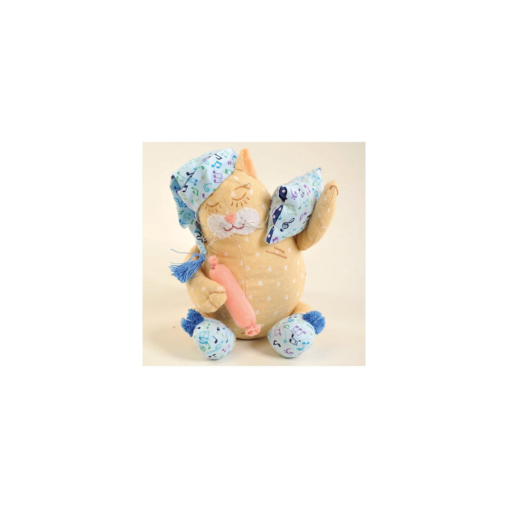 Набор для изготовления  игрушки Кот-Баюн, ПерловкаШитьё<br>Набор для изготовления игрушки Кот-Баюн, Перловка<br><br>Характеристики: <br><br>• Размер игрушки: 21,5<br>• Материал: Хлопок, Фетр, Металл, Атлас<br>• Вес: 150г<br><br>Этот набор для творчества позволит вашему ребенку создать очаровательную игрушку. Ткани в комплекте выполнены в мягких пастельных тонах и состоят из натурального хлопка. В составе имеется подробная инструкция и все необходимое для декорирования фигурки. <br><br>Особенностями данного комплекта являются входящие в состав травы лаванды, шалфея и душицы – эти натуральные компоненты действуют умиротворяюще и успокаивают. <br><br>Набор для изготовления игрушки Кот-Баюн, Перловка можно купить в нашем интернет-магазине.<br><br>Ширина мм: 150<br>Глубина мм: 10<br>Высота мм: 275<br>Вес г: 80<br>Возраст от месяцев: 60<br>Возраст до месяцев: 2147483647<br>Пол: Женский<br>Возраст: Детский<br>SKU: 5445434